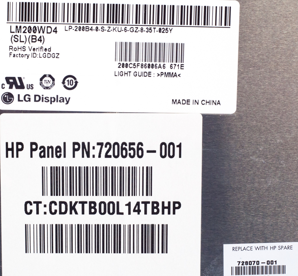 "HP 20"" LCD Screen /f ENVY Rove 20-k000ea AiO PC - LG LM200WD4(SL)(B4)"