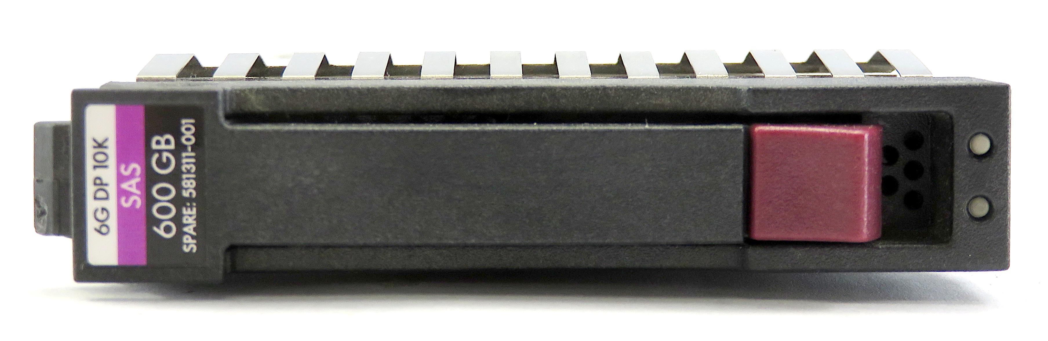 """HP 581311-001 HDD+Caddy: 600GB 10K RPM SAS 2.5"""" HDD 641552-003 693569-003"""