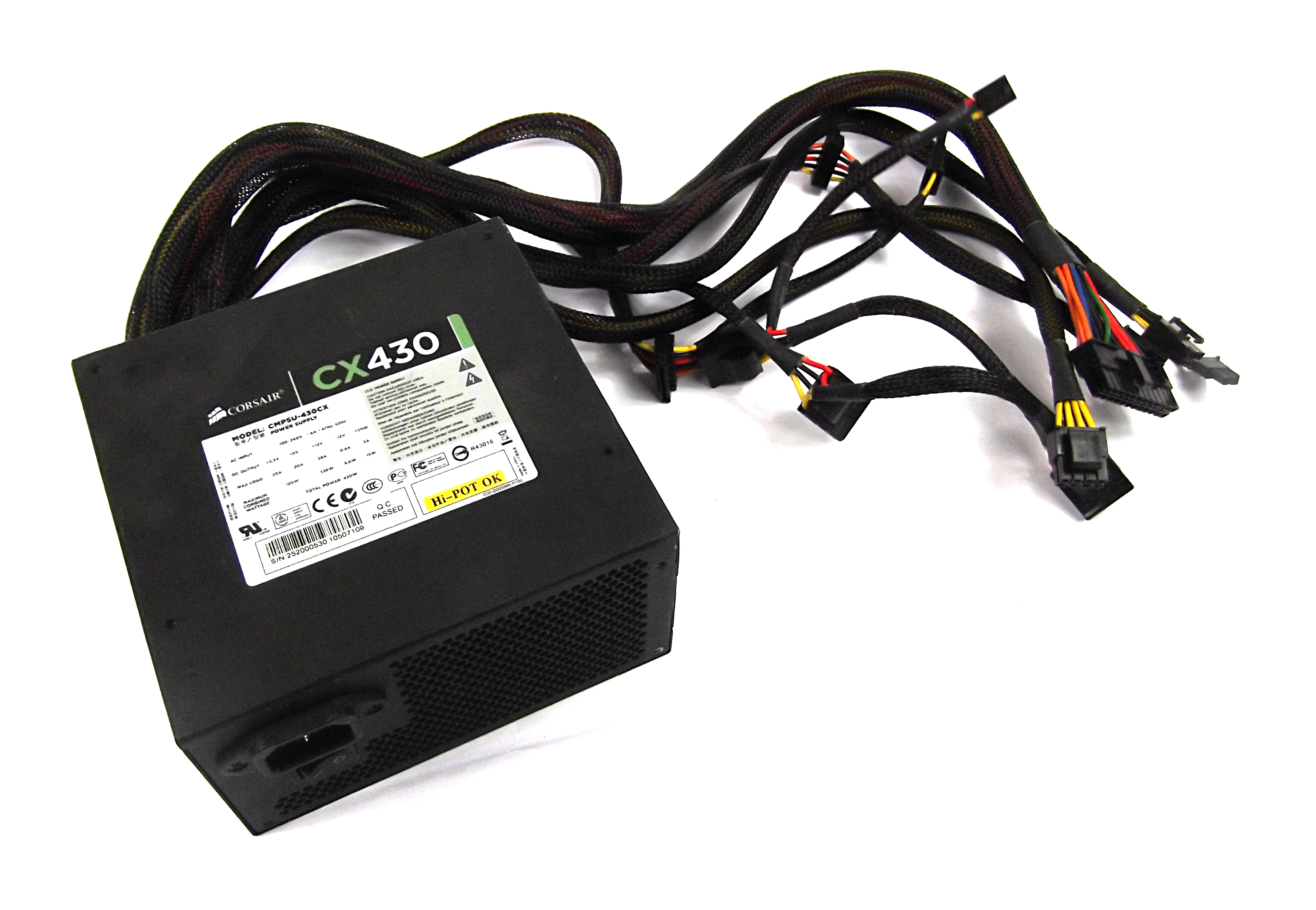 Corsair CMPSU-430CX CX430 430W 20/24 Pin Power Supply