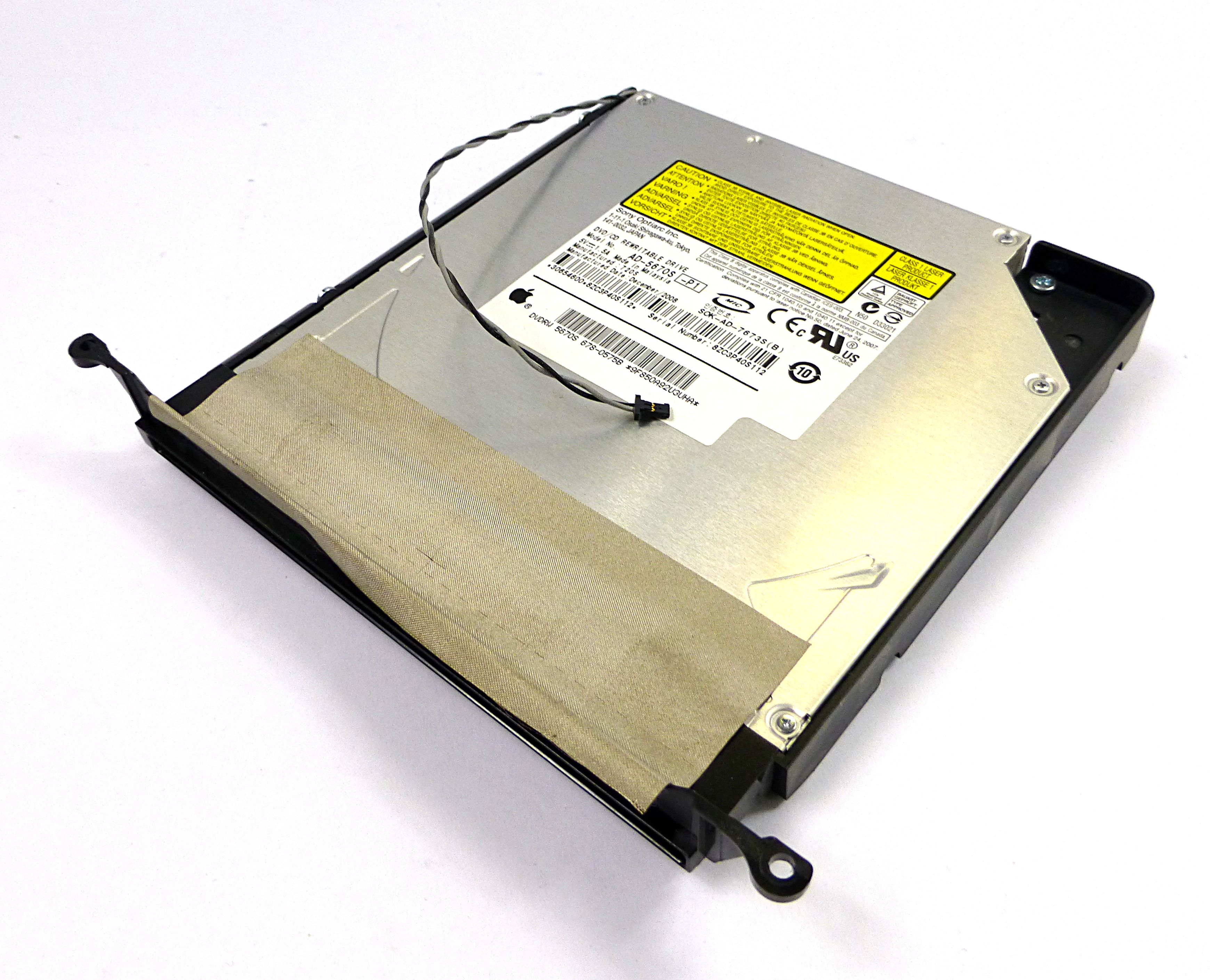 Apple 678-0575B AD-5670S-P1 SATA DVD/CD Rewritable Slot-Loading Optical Drive