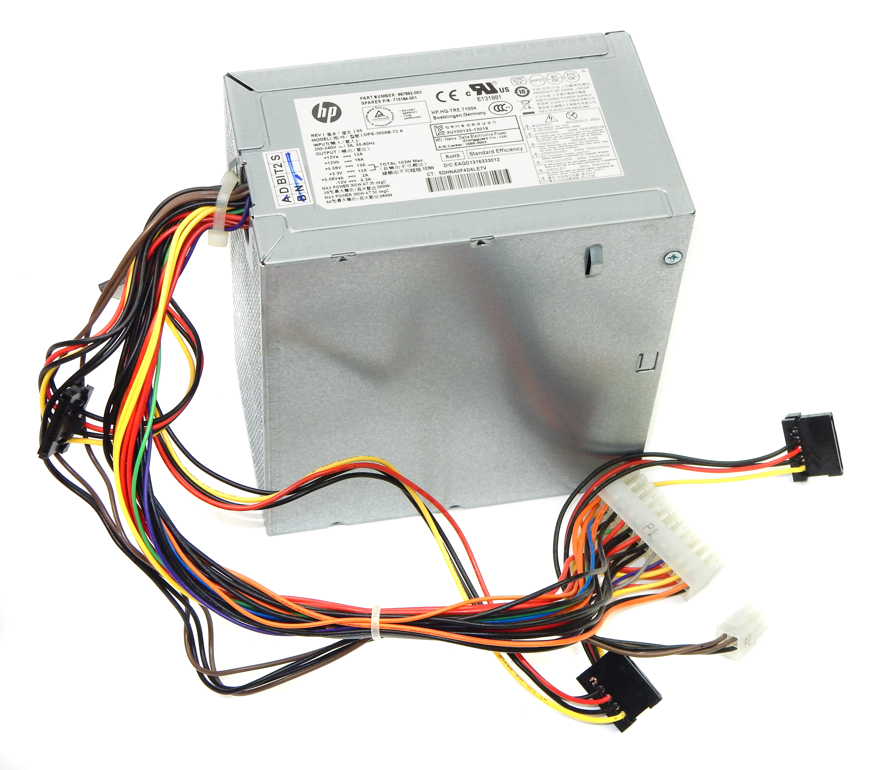 HP 715184-001 300W 24 Pin ATX Power Supply Unit - Delta DPS-300AB-72