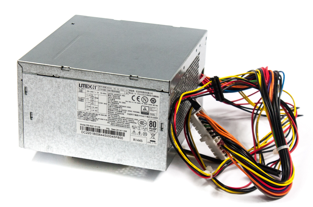 PE-5221-01AB LiteOn 220W 24Pin ATX Power Supply