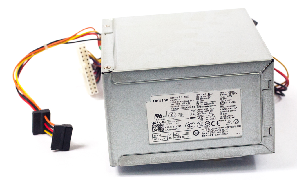 Dell 5W52M 300Watt 24-Pin Power Supply - Delta DPS-300AB-66 A