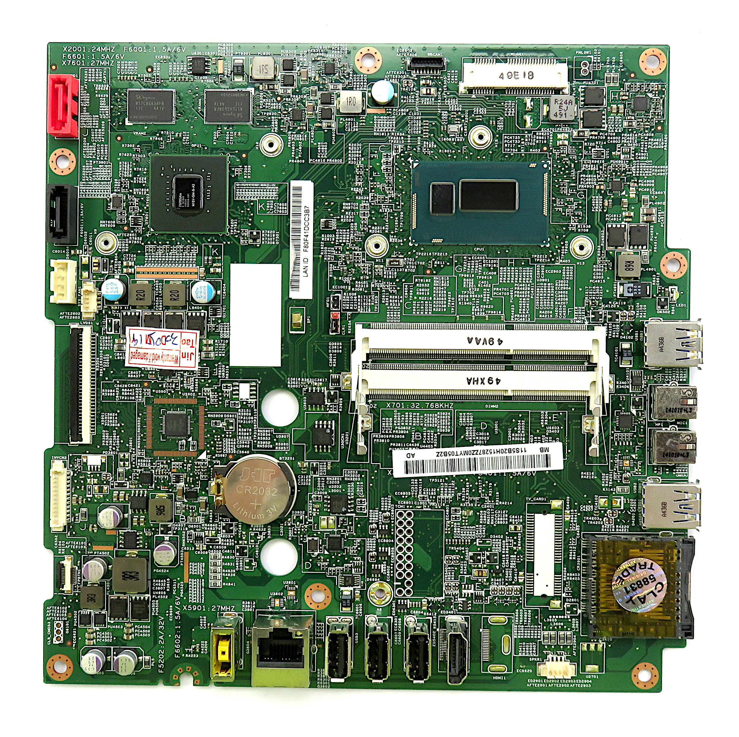 Lenovo 5B20H15287 C50-30 All-in-one Motherboard with BGA Intel Core i3-4005U CPU