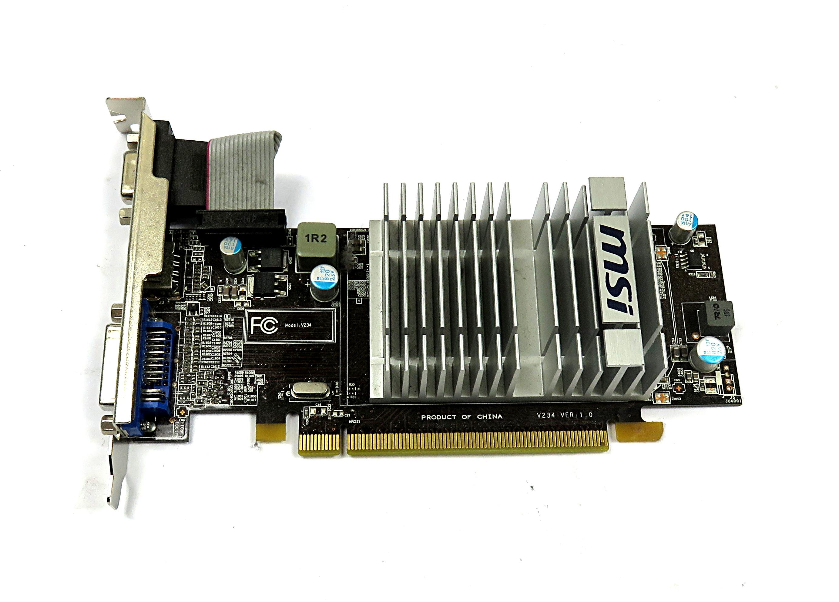 MSI R5450-MD1GD3H/LP 1GB DDR3 LP PCIe Graphics Card w/FH bracket HDMI/DVI/VGA