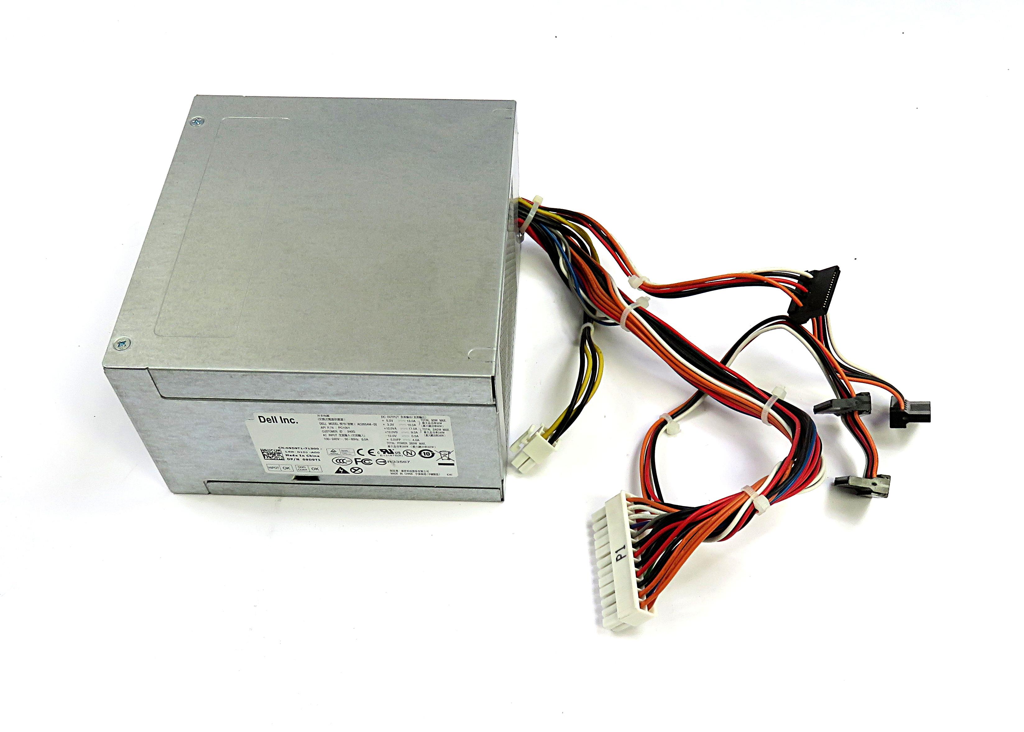 9D9T1 Dell 265W 24-pin ATX PSU AC265AM-00 f/ OptiPlex 990 Desktop