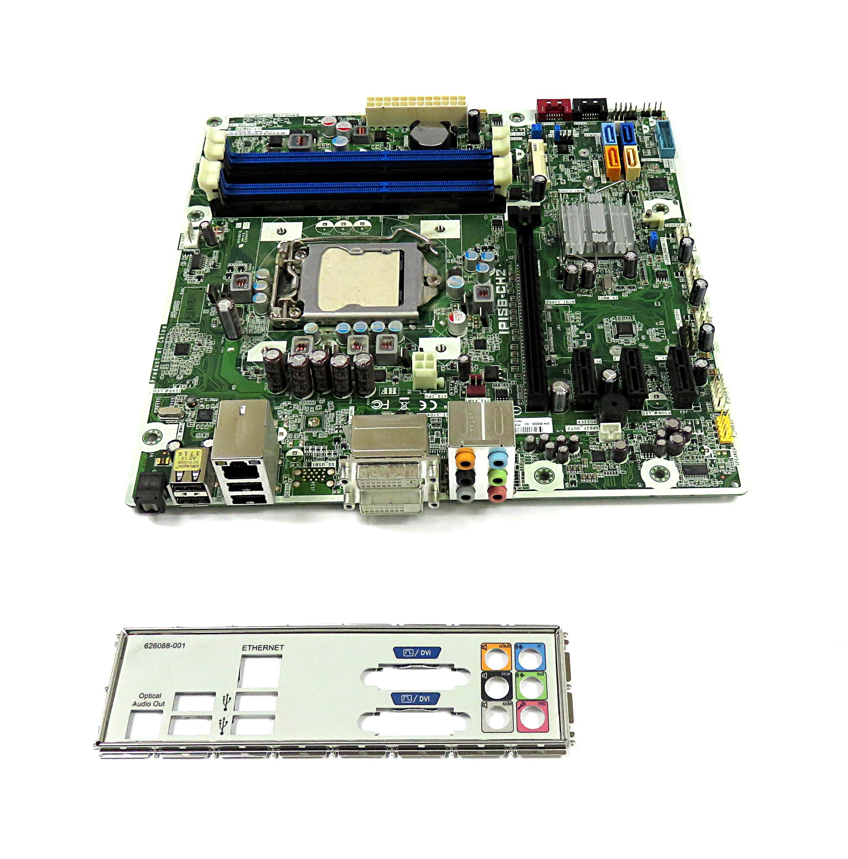 623913-001 Hewlett Packard LGA1155 Micro ATX Motherboard IPISB-CH2 Rev:1.01