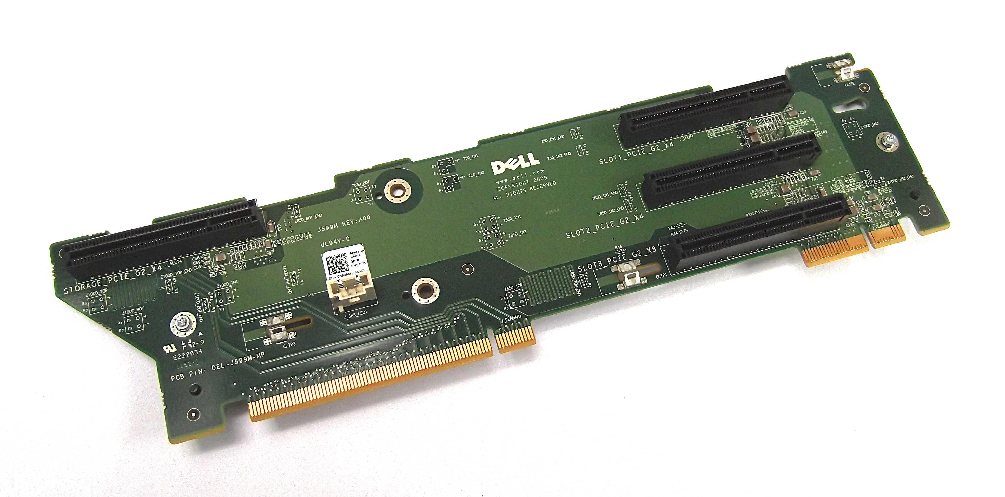 Dell H949M Poweredge R510 R710 PCIe Riser Board