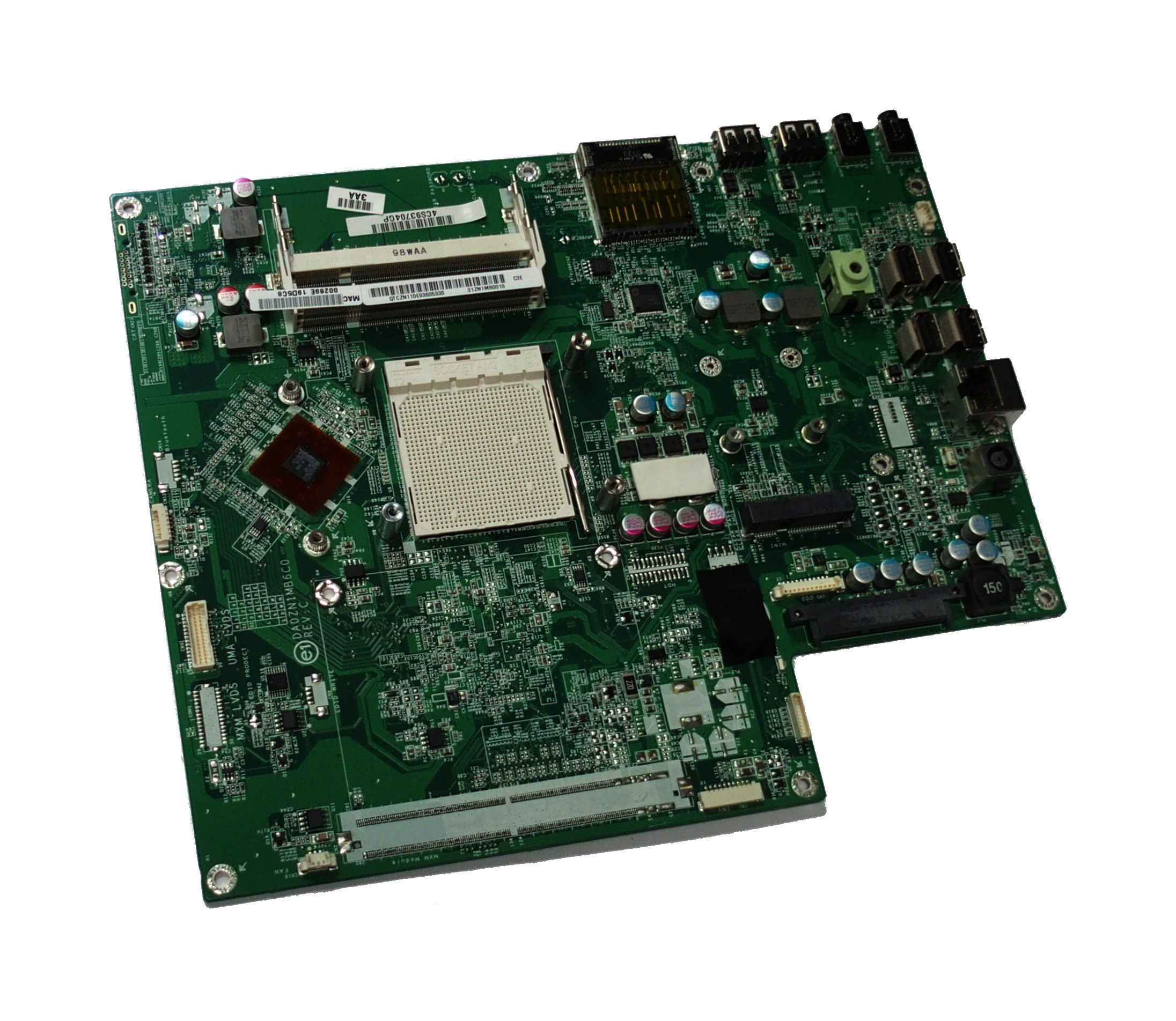 HP 31ZN1MB0010 Mainboard DA0ZN1MB6C0 f/ Pavilion MS215uk AiO PC  - HP 597920-001
