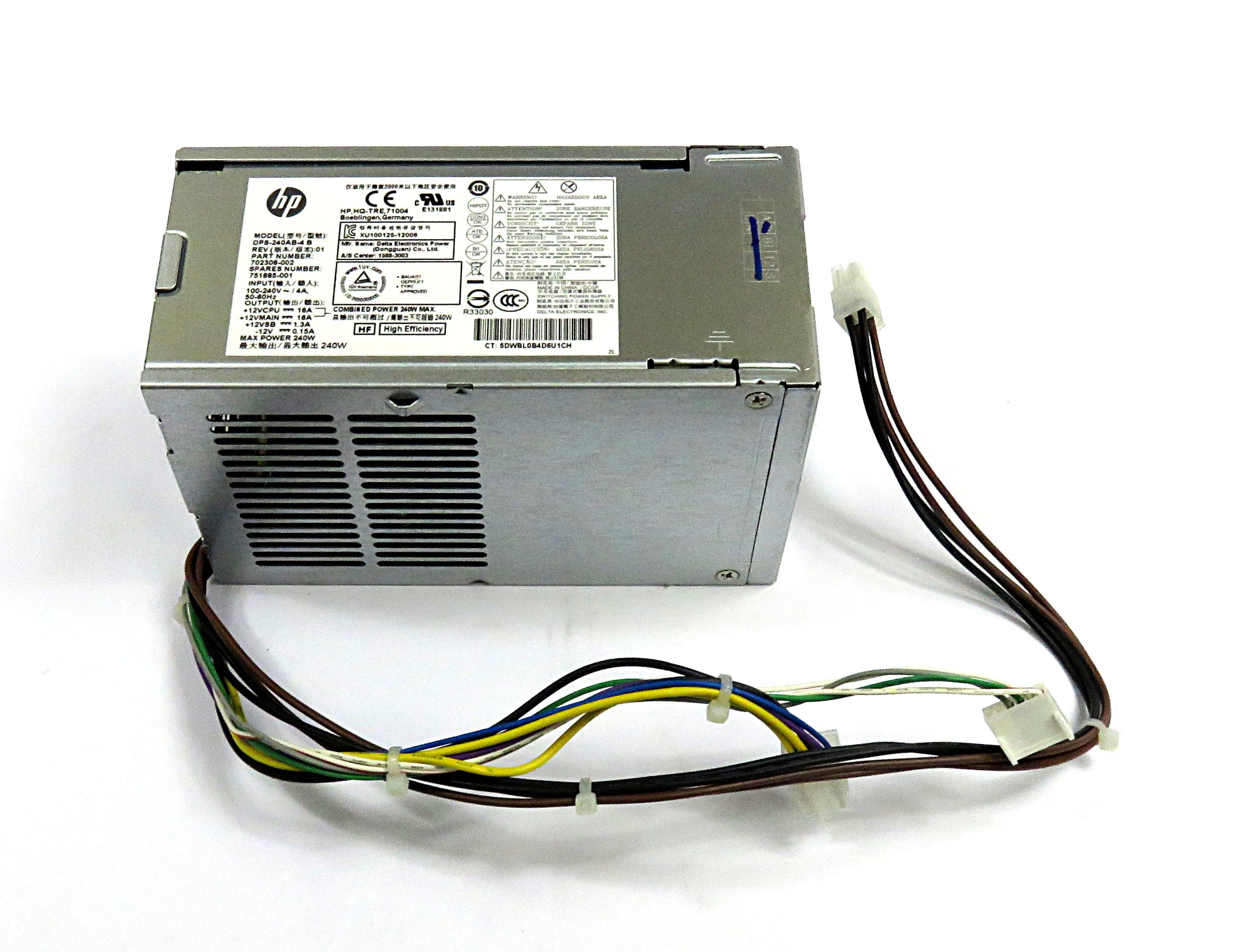 751885-001 HP 240W PSU P/N:702308-002- Delta DPS-240AB-4B