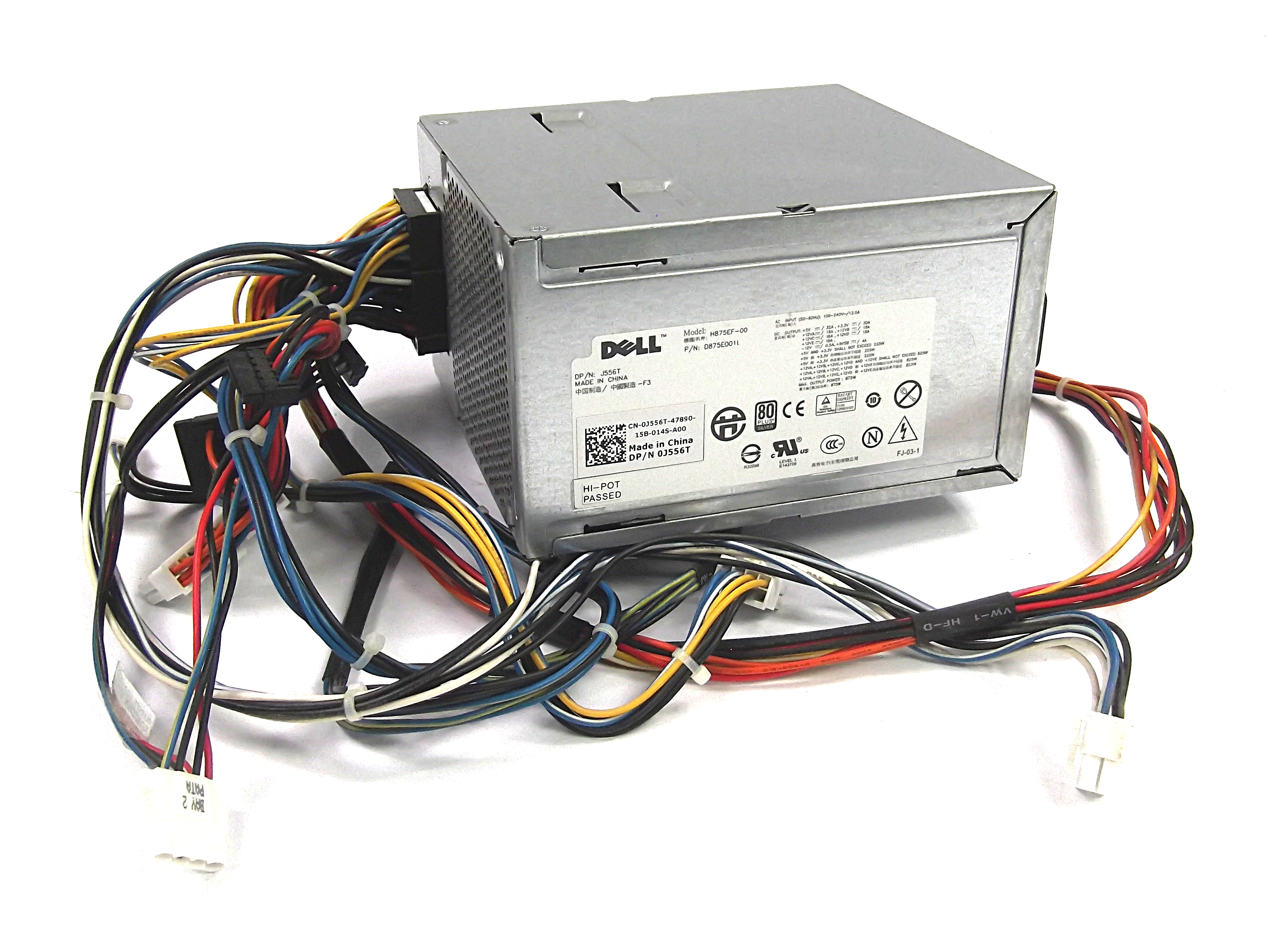 Dell J556t Precision T5500 875w Power Supply And Wire Harness R166h Wiring