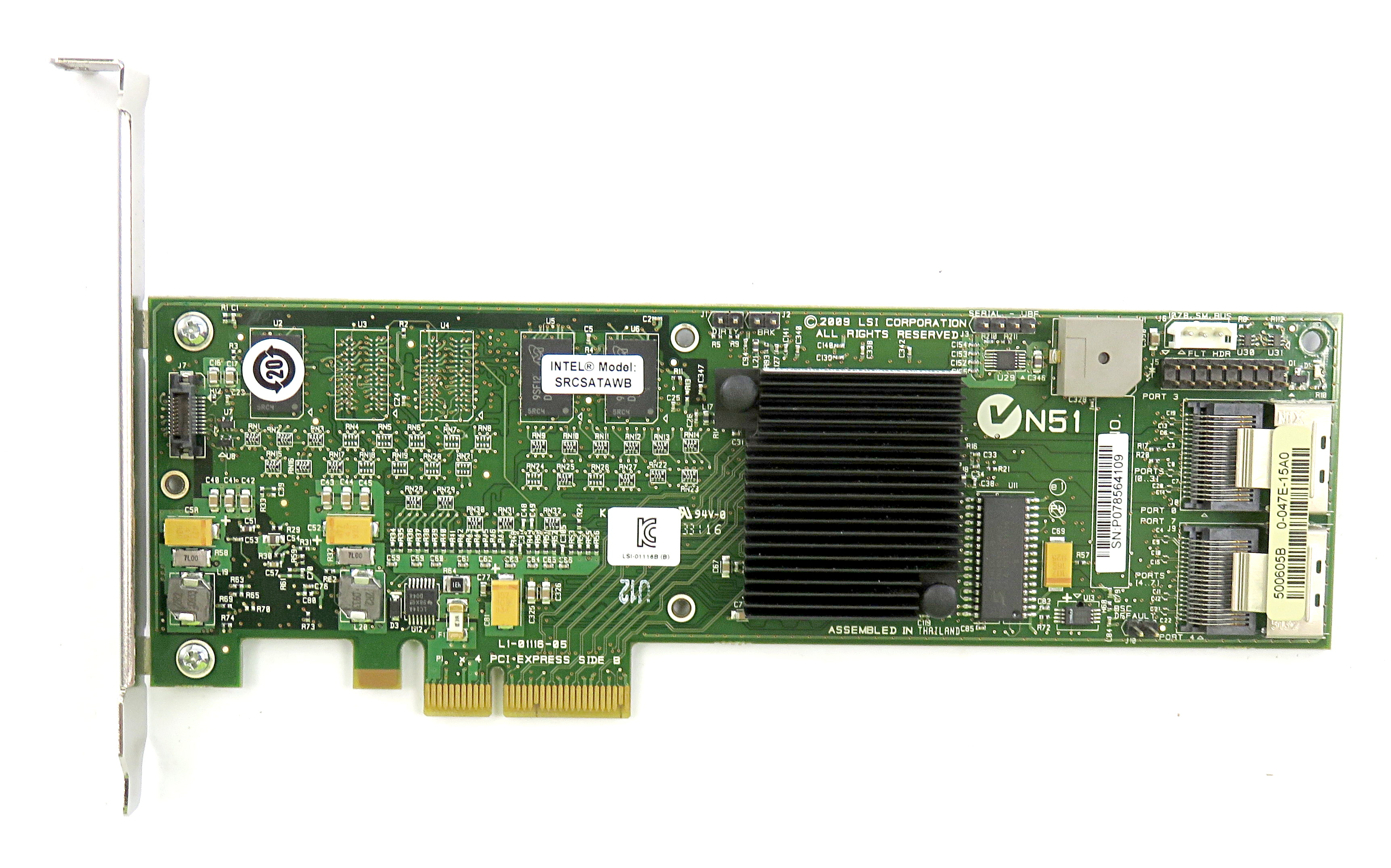 LSI L1-01116-05 SRCSATAWB PCI-e 8-Port SATA RAID Controller Card - D95688-155