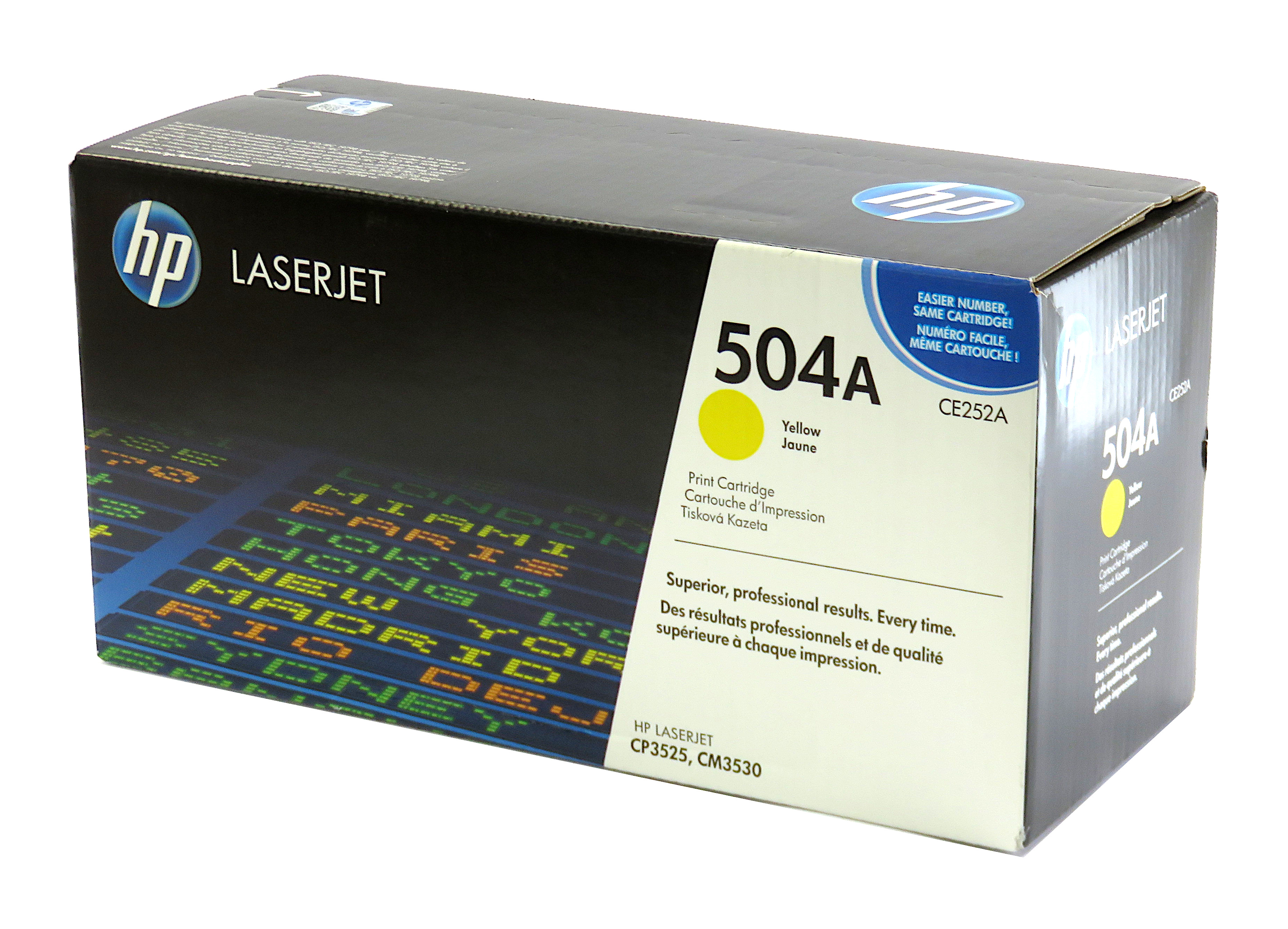 New Genuine HP LaserJet CE252A/504A Yellow Print Cartridge - Destinations Livery