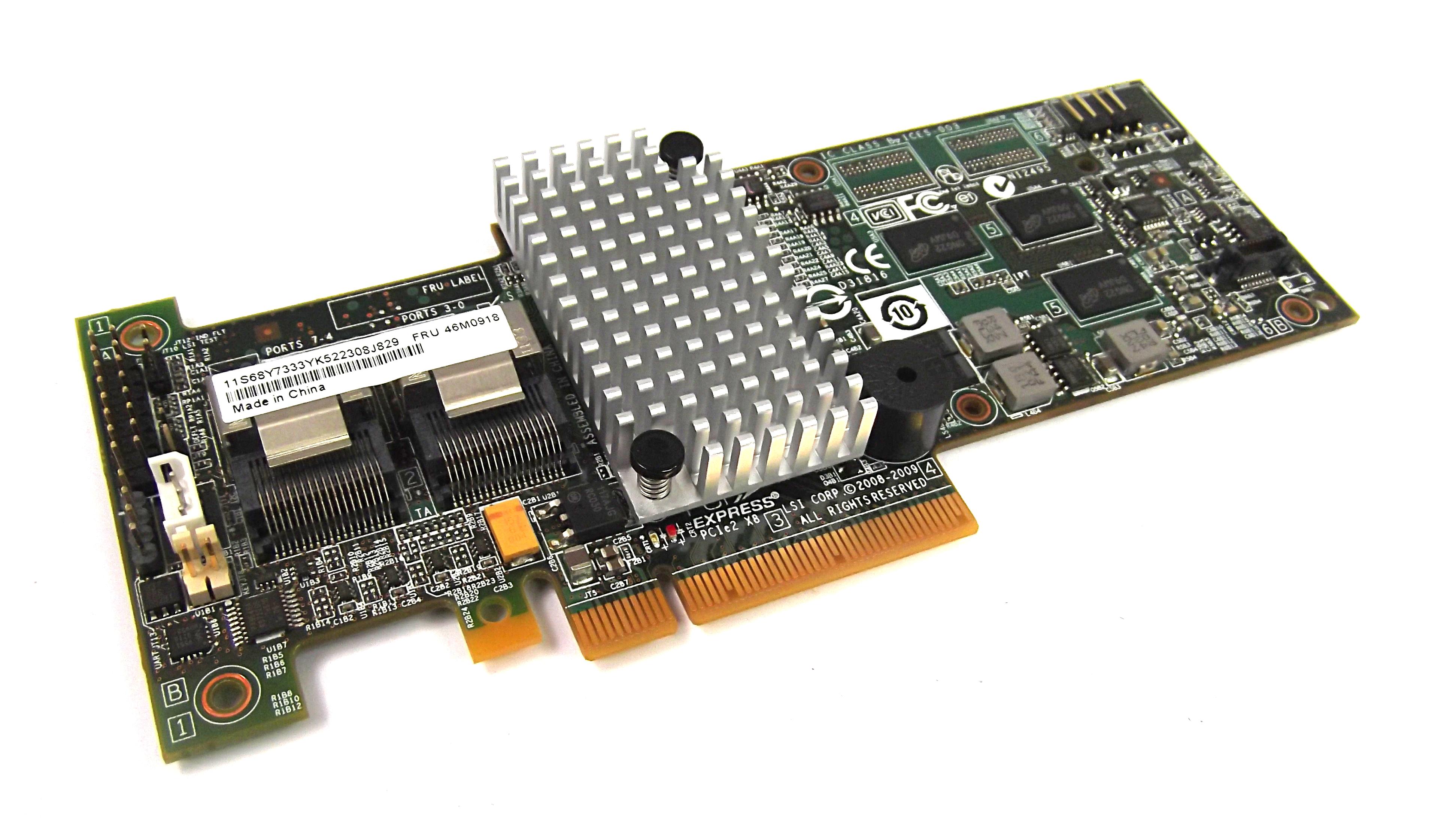 IBM 46M0918 System x3550 M2 X3650 M3 PCI-e SAS/ SATA Controller Card