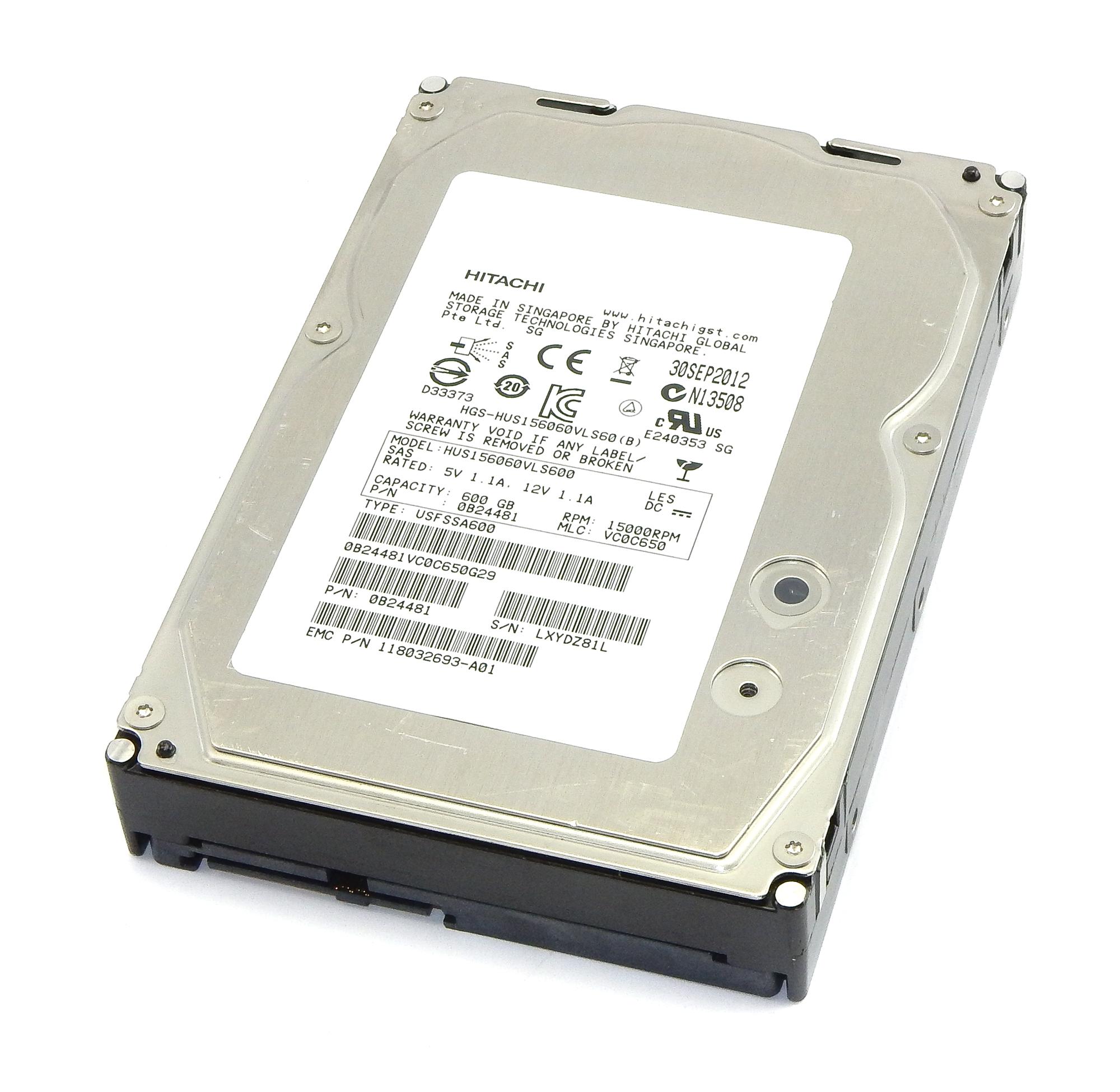 """HGST HUS156060VLS600 600GB 15K 3.5"""" SAS Hard Drive"""