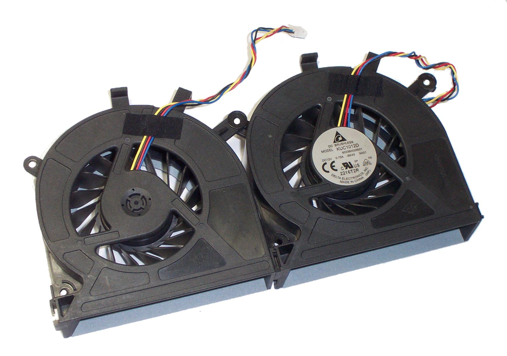 Delta Electronics 12V 0.75A Twin Brushless Fan Assembly KUC1012D -BK43