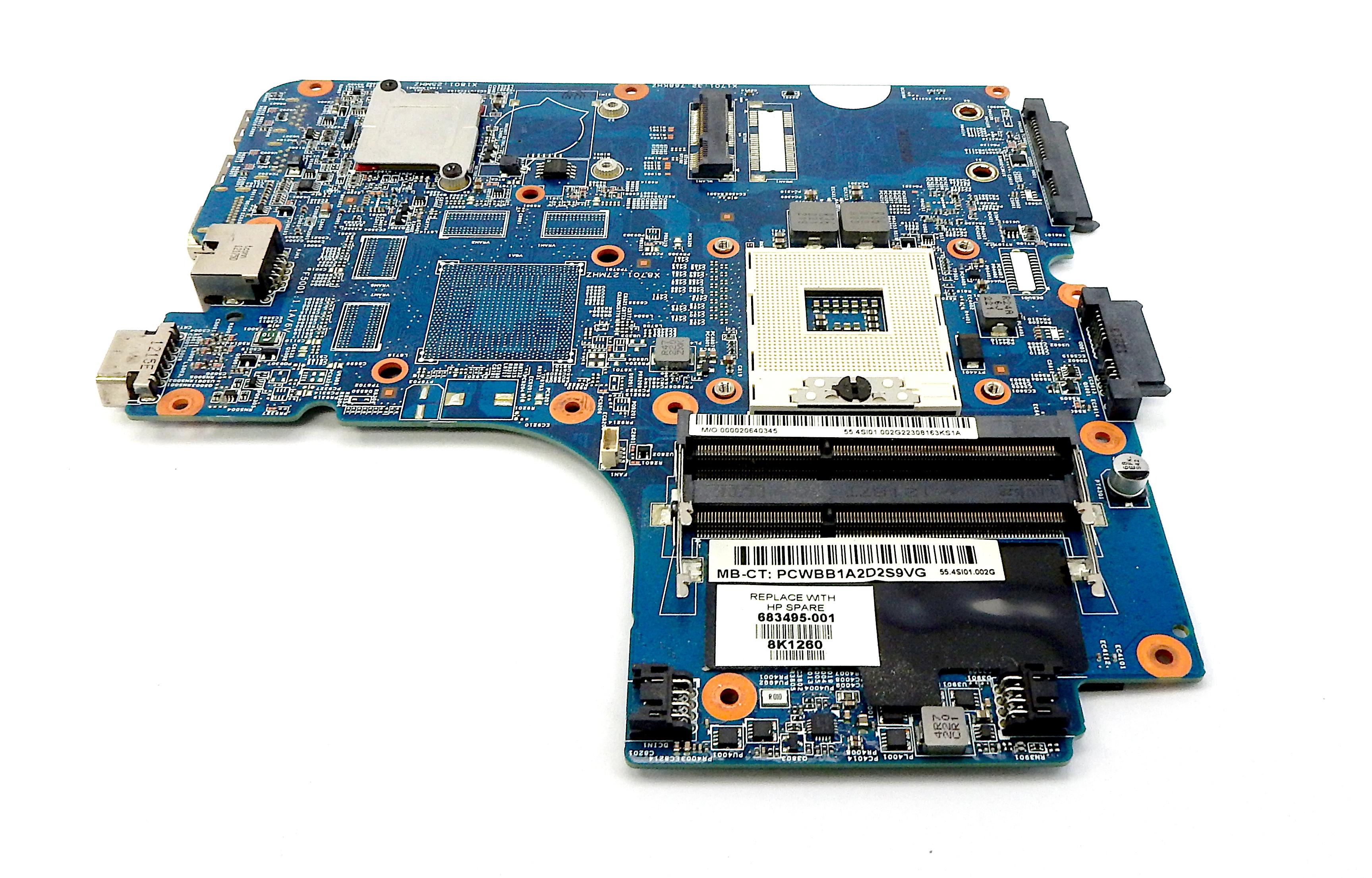 HP 683495-001 Pro Book 4540s Intel PGA 989 Laptop Motherboard