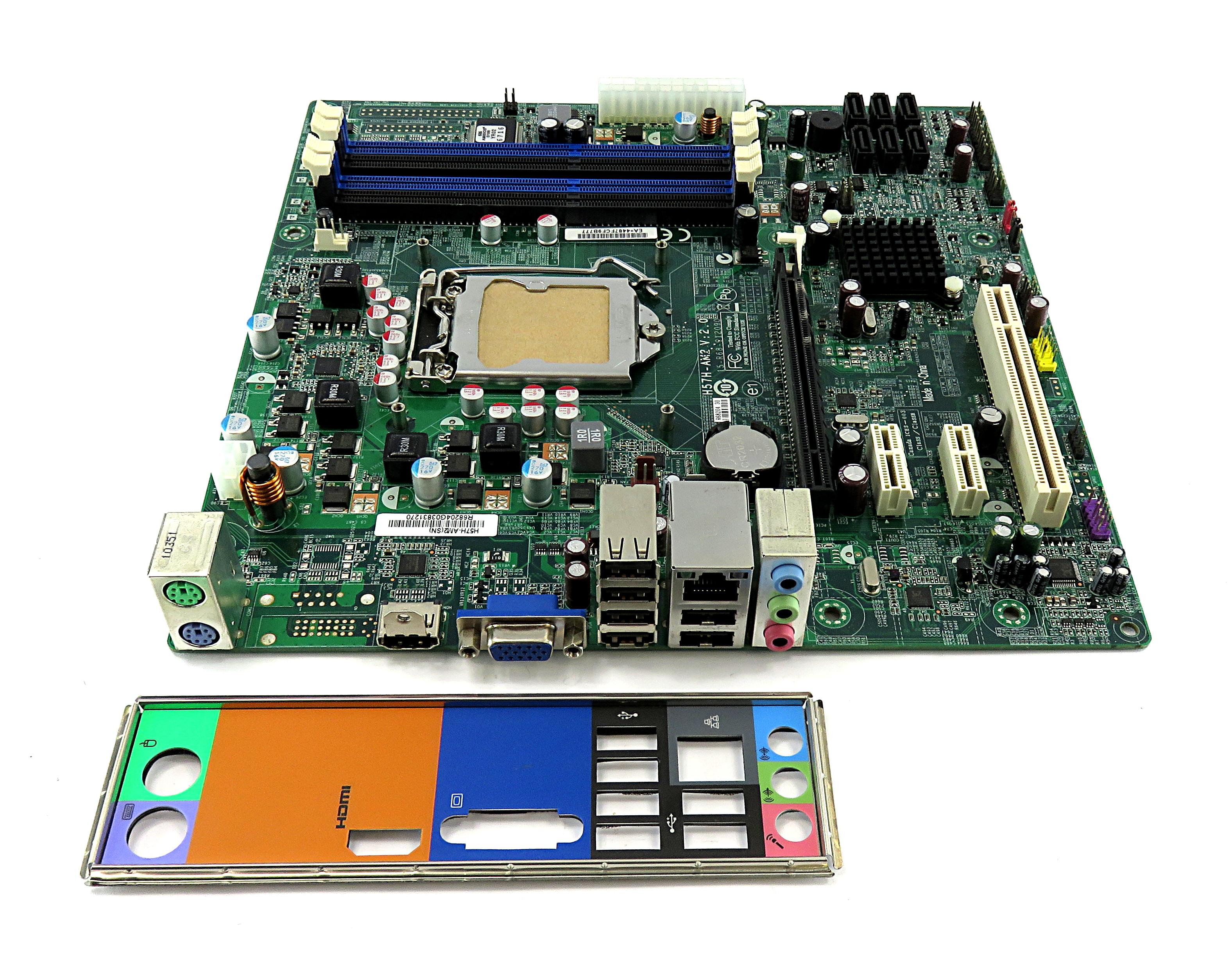 H57H-AM2(SN) V:2.0  Acer/Packard Bell Socket LGA1156 Motherboard MB.SDX07.002