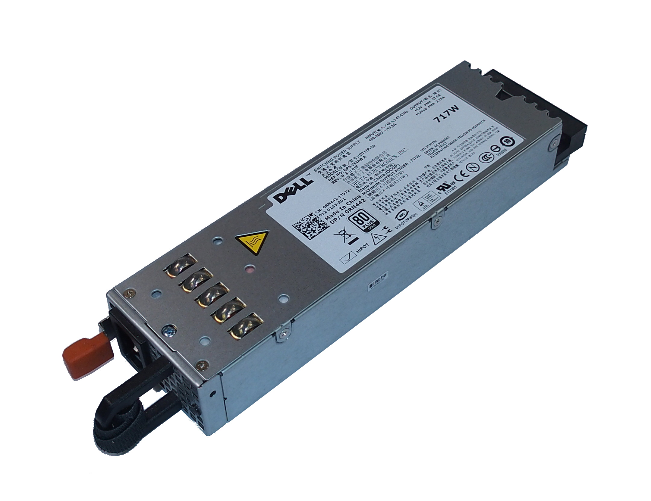 Dell RN442 D717P-S0 PowerEdge R610 717W Switching Power Supply