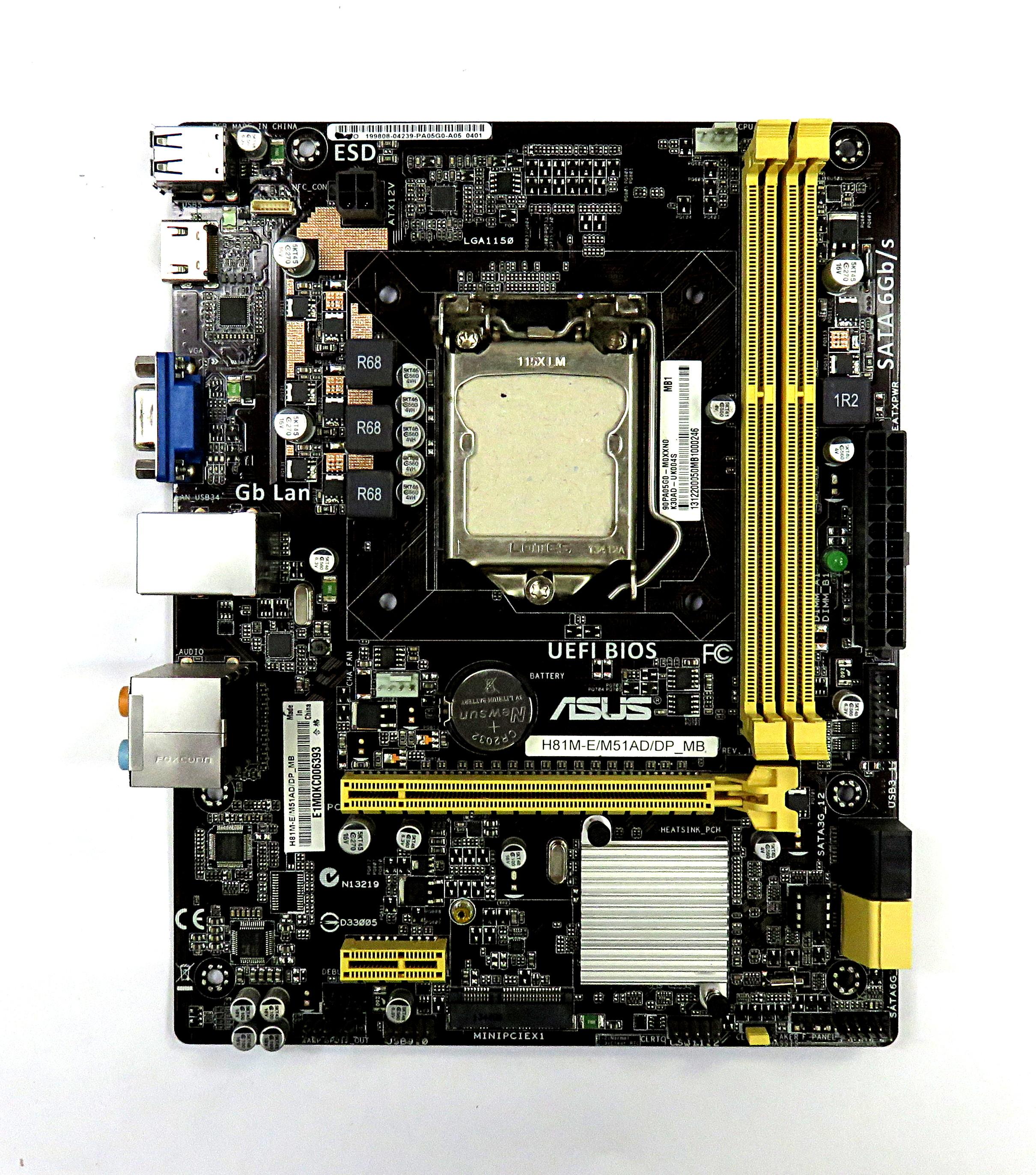 Asus H81M E M51AD DP MB Intel Socket LGA1150 UATX