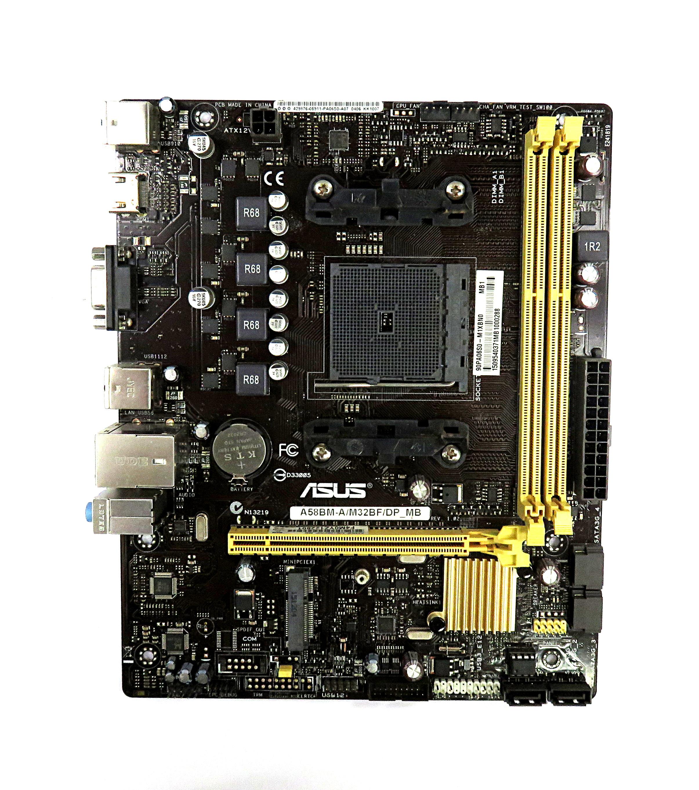 Asus A58BM-A/M32BF/DP_MB AMD Socket FM2b uATX Motherboard 90PA06S0-M1XBN0