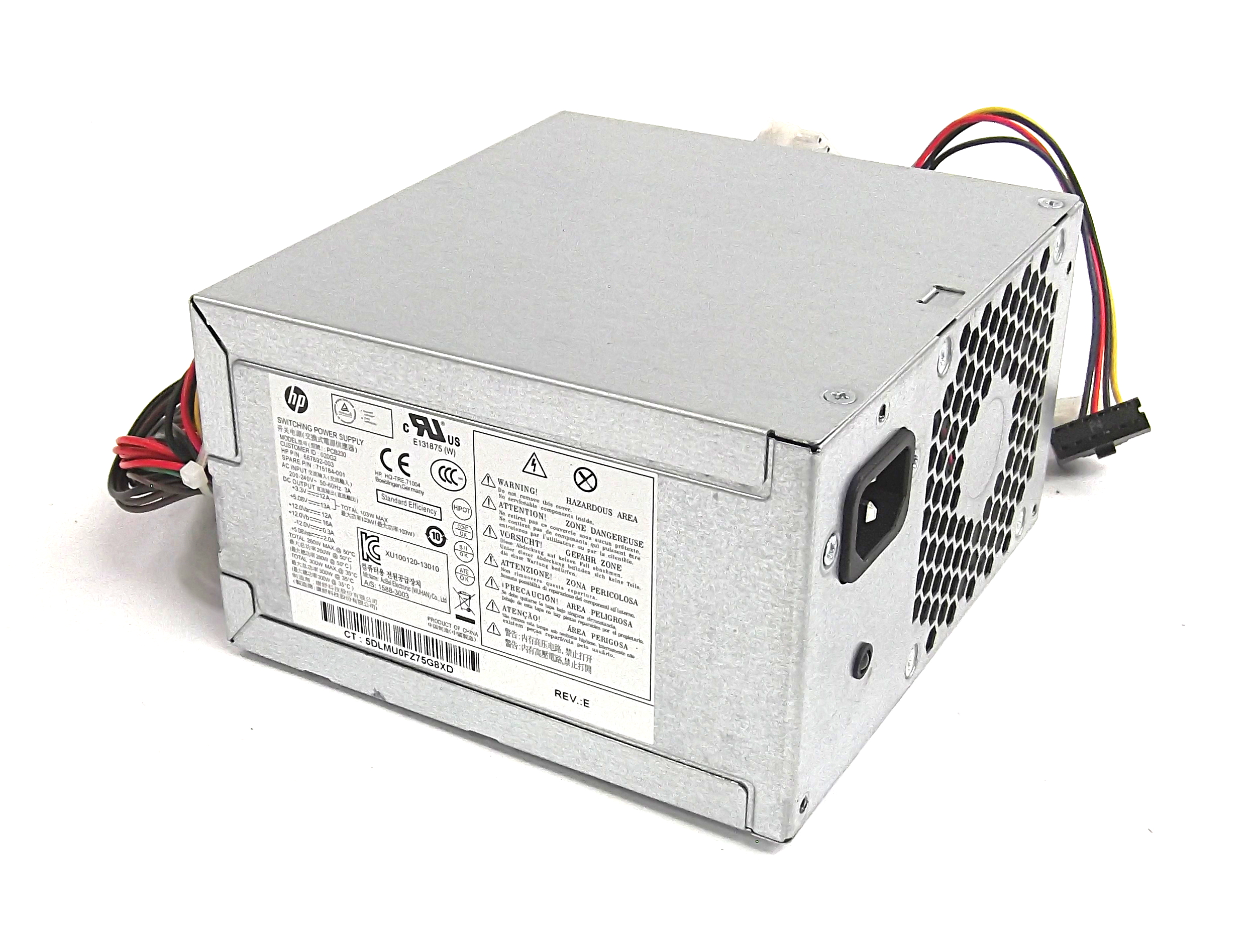 HP 667892-001 AcBel PCB230 300W ATX 24 Pin Power Supply