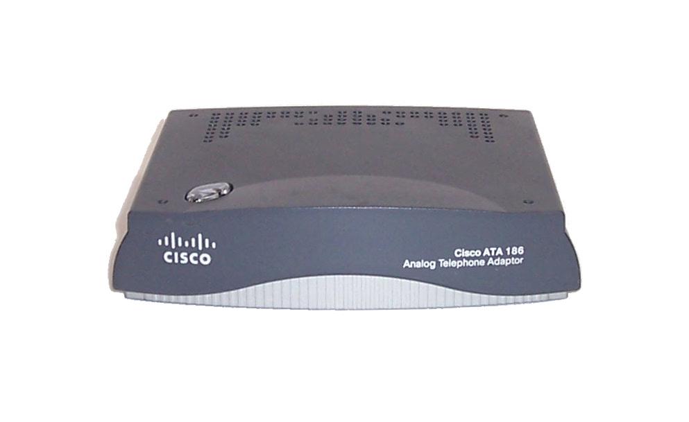 Cisco ATA186-I1-A Analog Telephone Adaptor - No Power Supply