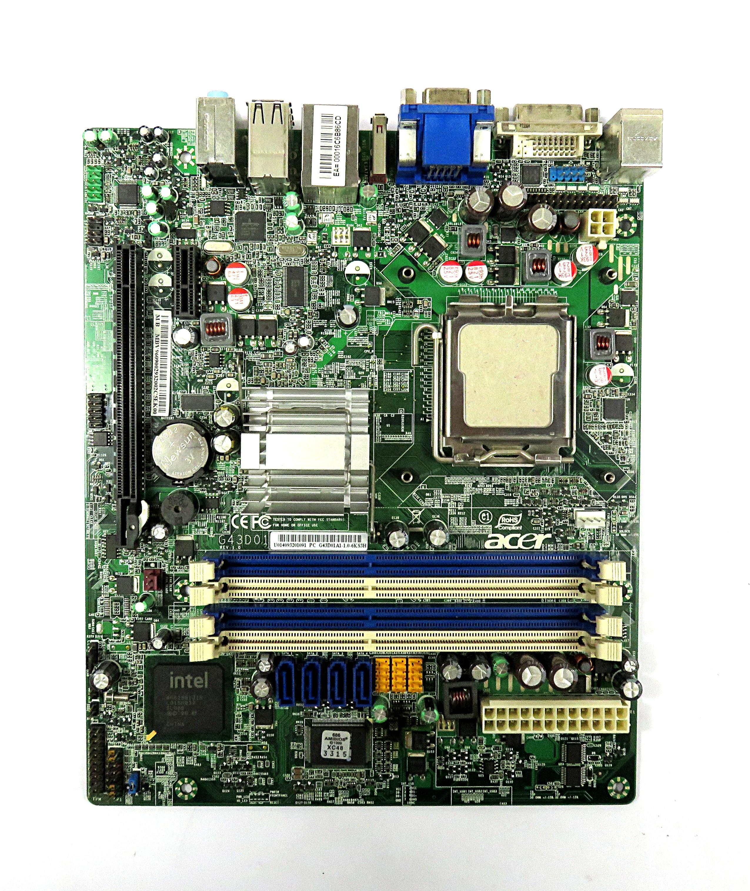 Acer G43D01A1-1.0-6KS3H Socket LGA775 uATX Motherboard MB.V9609.002