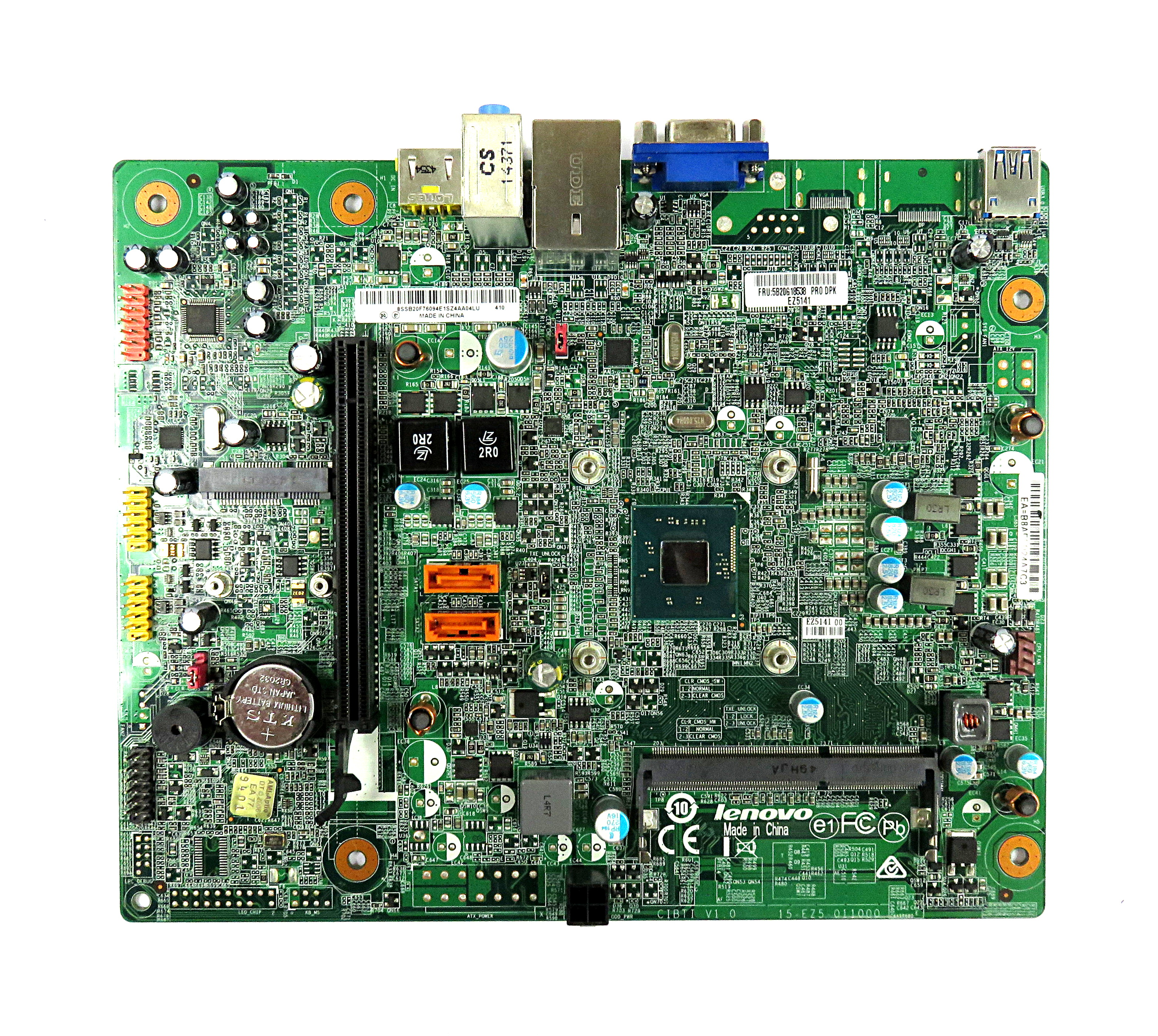 Lenovo 5B20G18538 CIBTI V1.0 BTDD-LT V1.0 Motherboard w/ Intel Celeron J1800 CPU