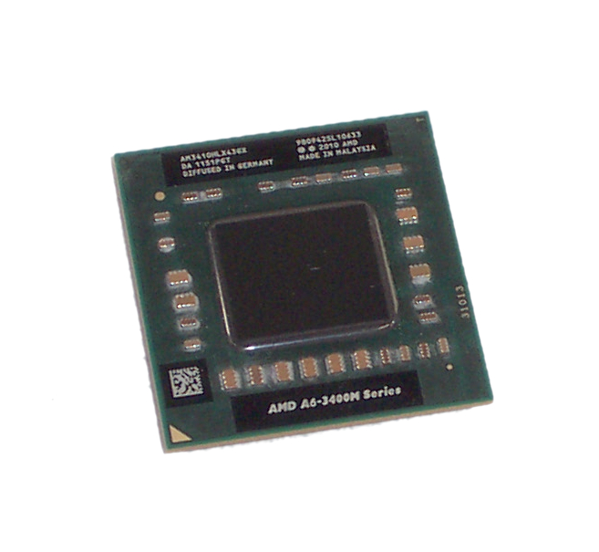 AMD AM3410HLX43GX A6-3410MX 1.6GHz (2.3GHz Turbo) Socket FS1 Laptop Processor
