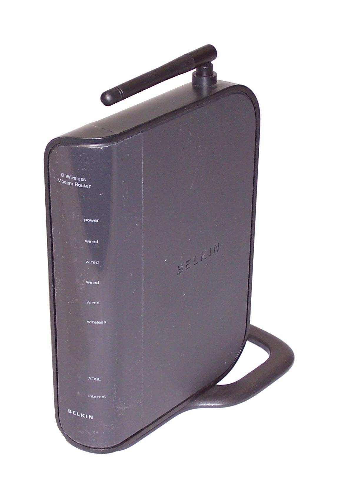 Belkin F5D7634-4 v2 G Wireless Modem Router bundle With Power Supply