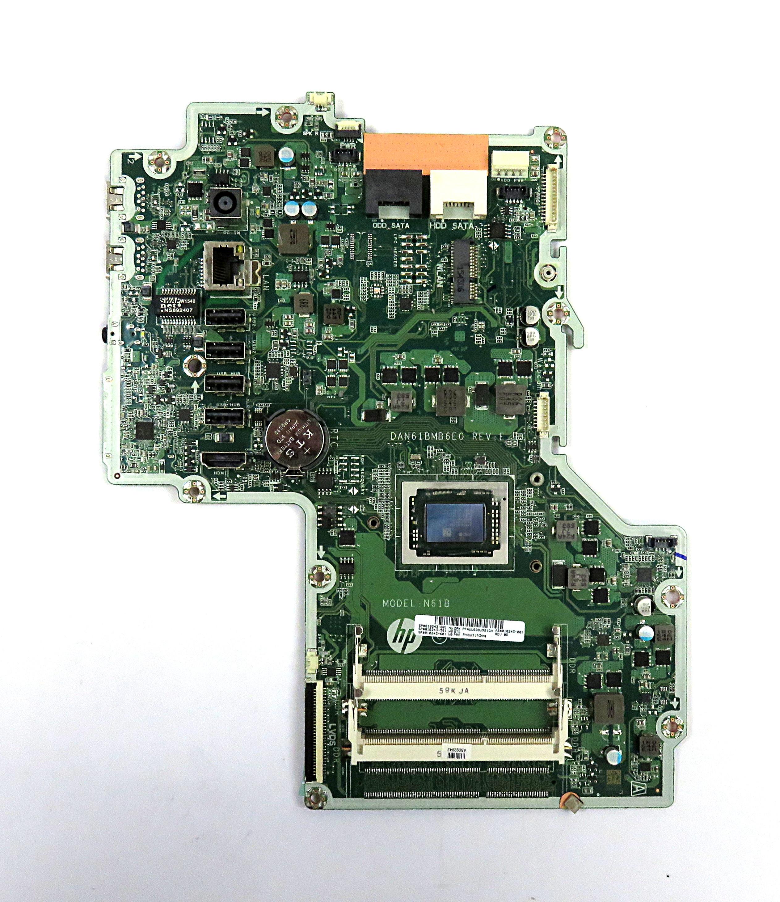 "HP 810243-001 Motherboard /f B&O 23"" Pavilion AiO PC /w AMD A10-8700P APU"