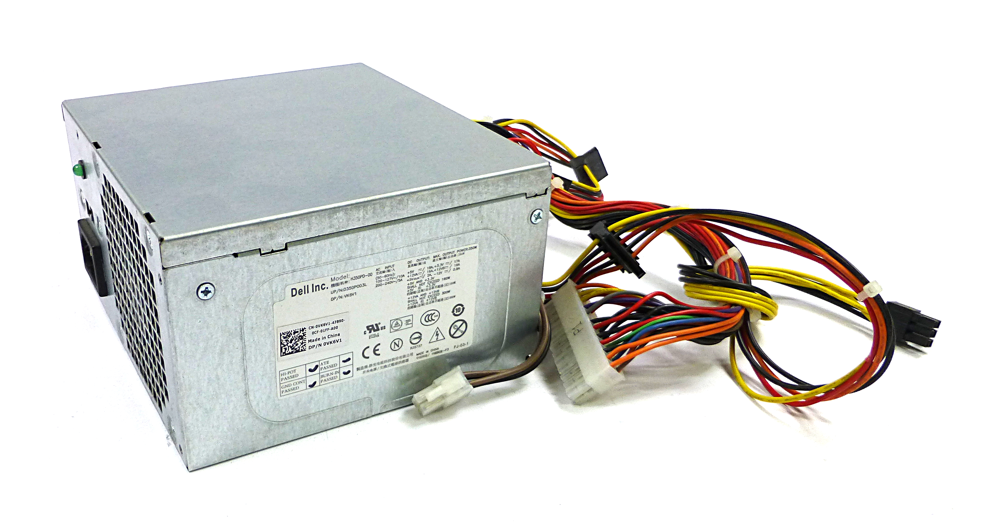Dell VK6V1 350W 24-Pin Power Supply For Vostro 460 Desktop PC