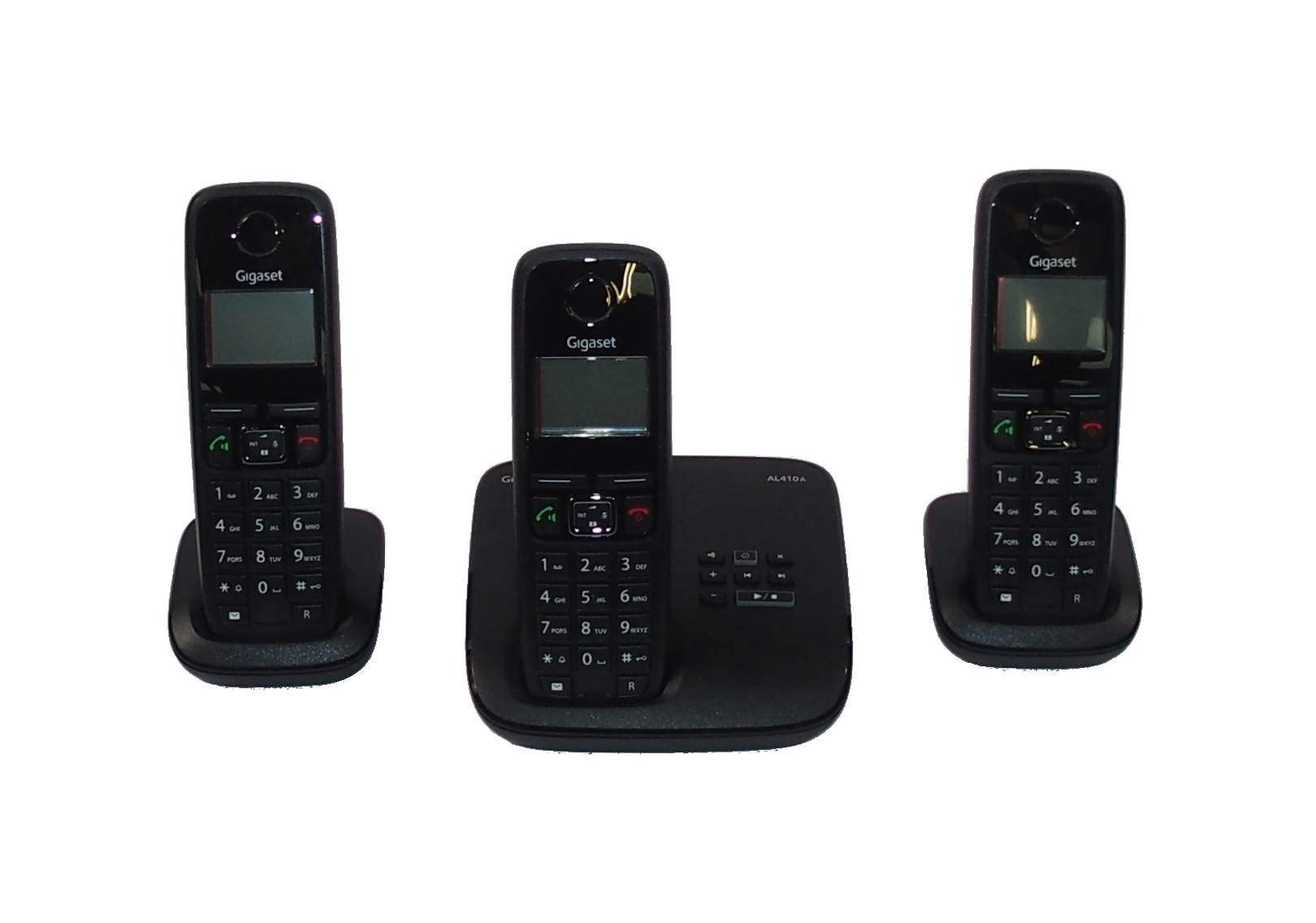 Gigaset Al410A Trio Digital Cordless Phone With Answering Machine And PS