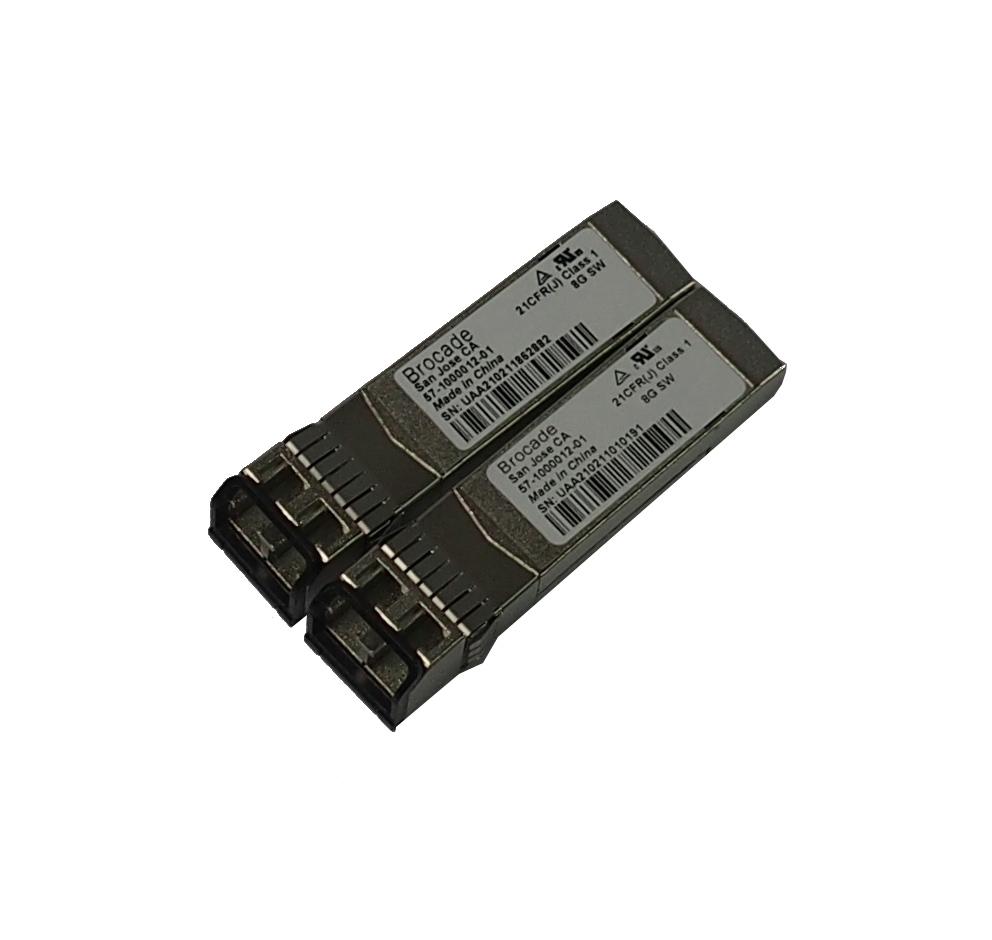 Two(2) x Brocade 57-1000012-01 8Gb/s SW SFP+ Transceiver