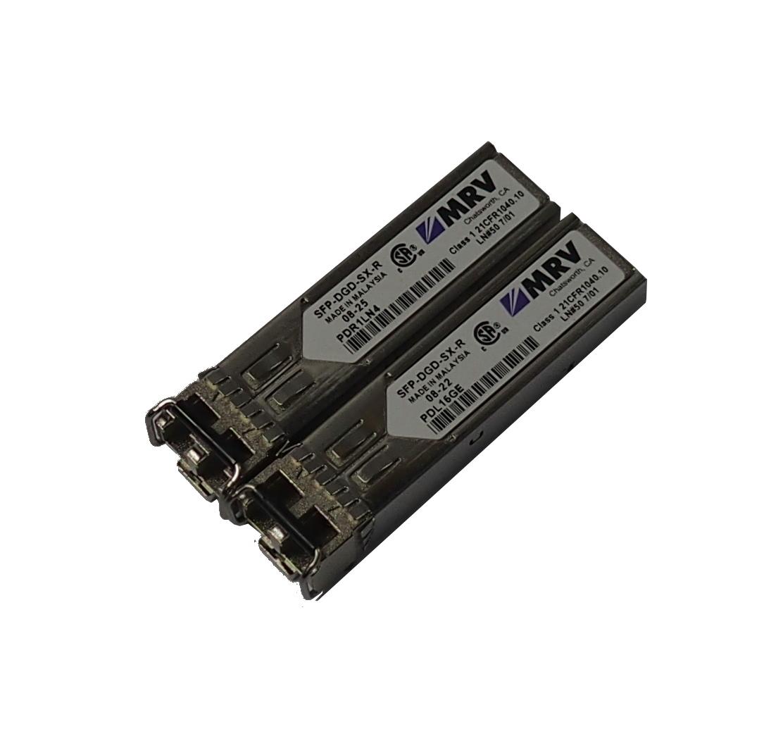 Two(2) x MRV SFP-DGD-SX-R MM FC Gigabit SFP Transceiver
