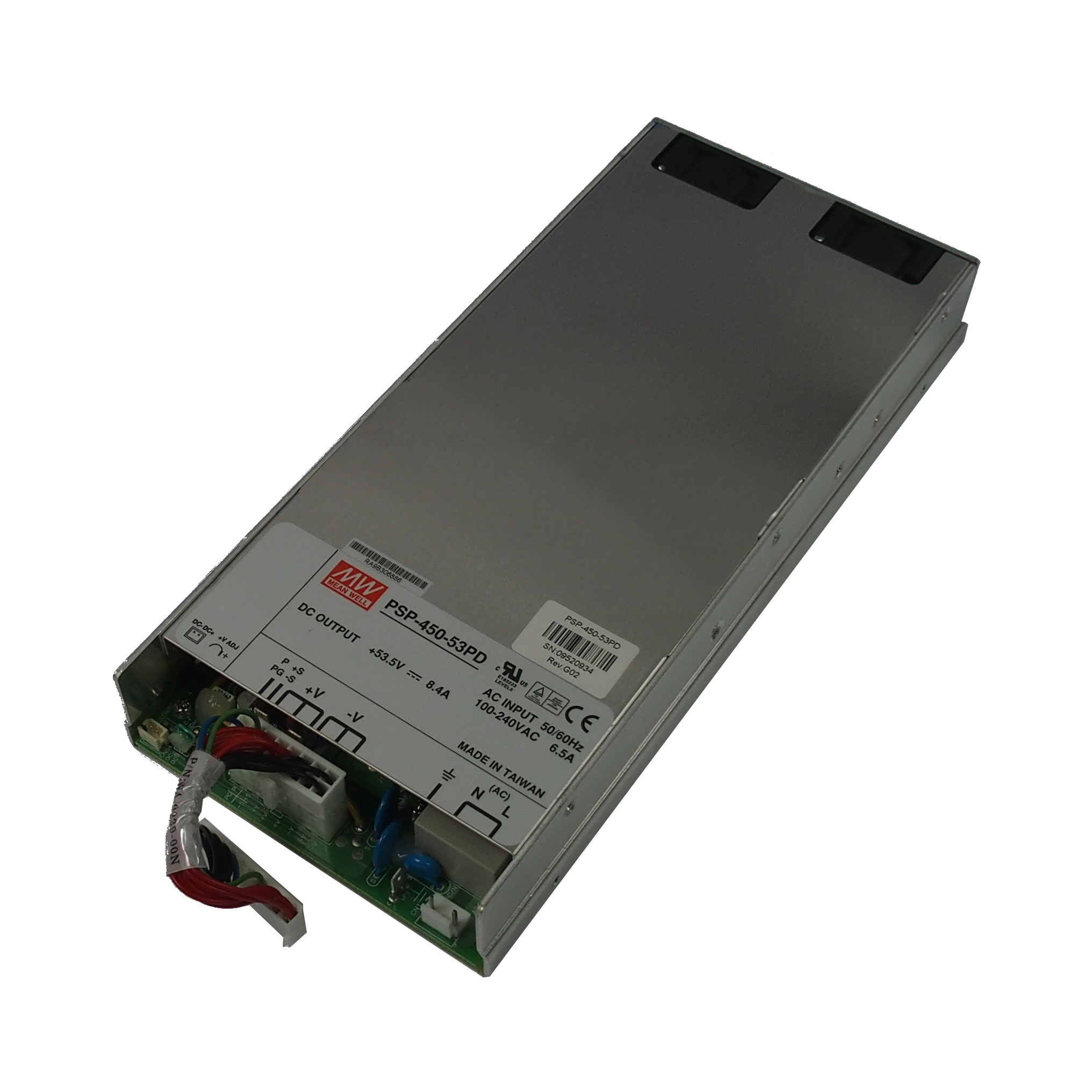 Mean Well PSP-450-53PD +53.5V 8.4A PS For PowerDsine 6524(PD-6524/AC/M/F) Switch