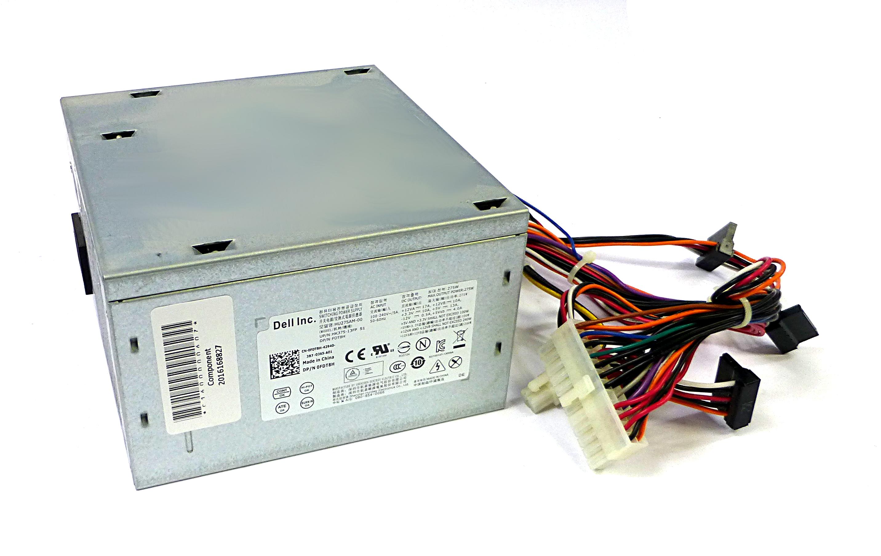 Dell FDT8H Optiplex 3010 275W 24 Pin Power Supply - HU275AM-00