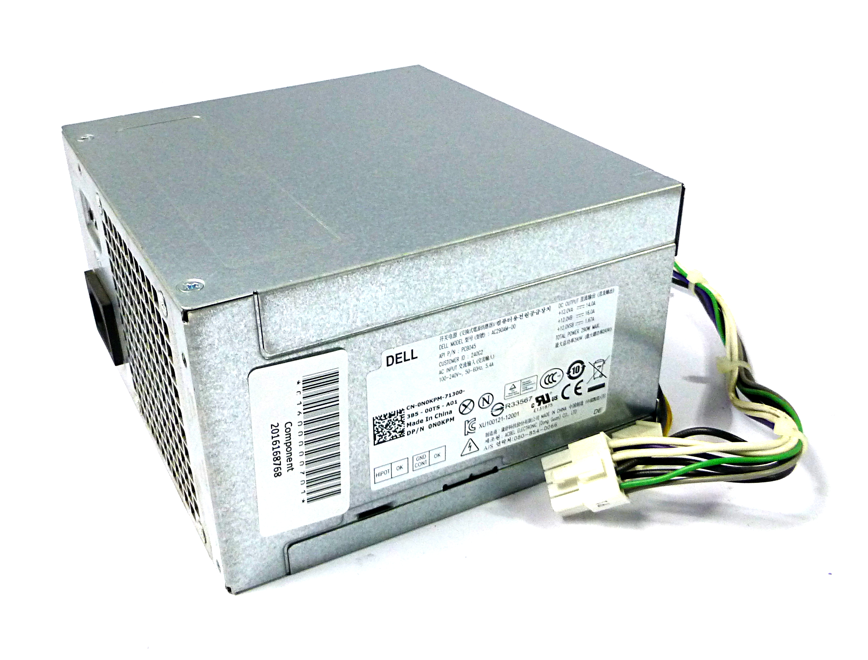 Dell N0KPM Optiplex 3020 290W 8-Pin Power Supply - AC290AM-00