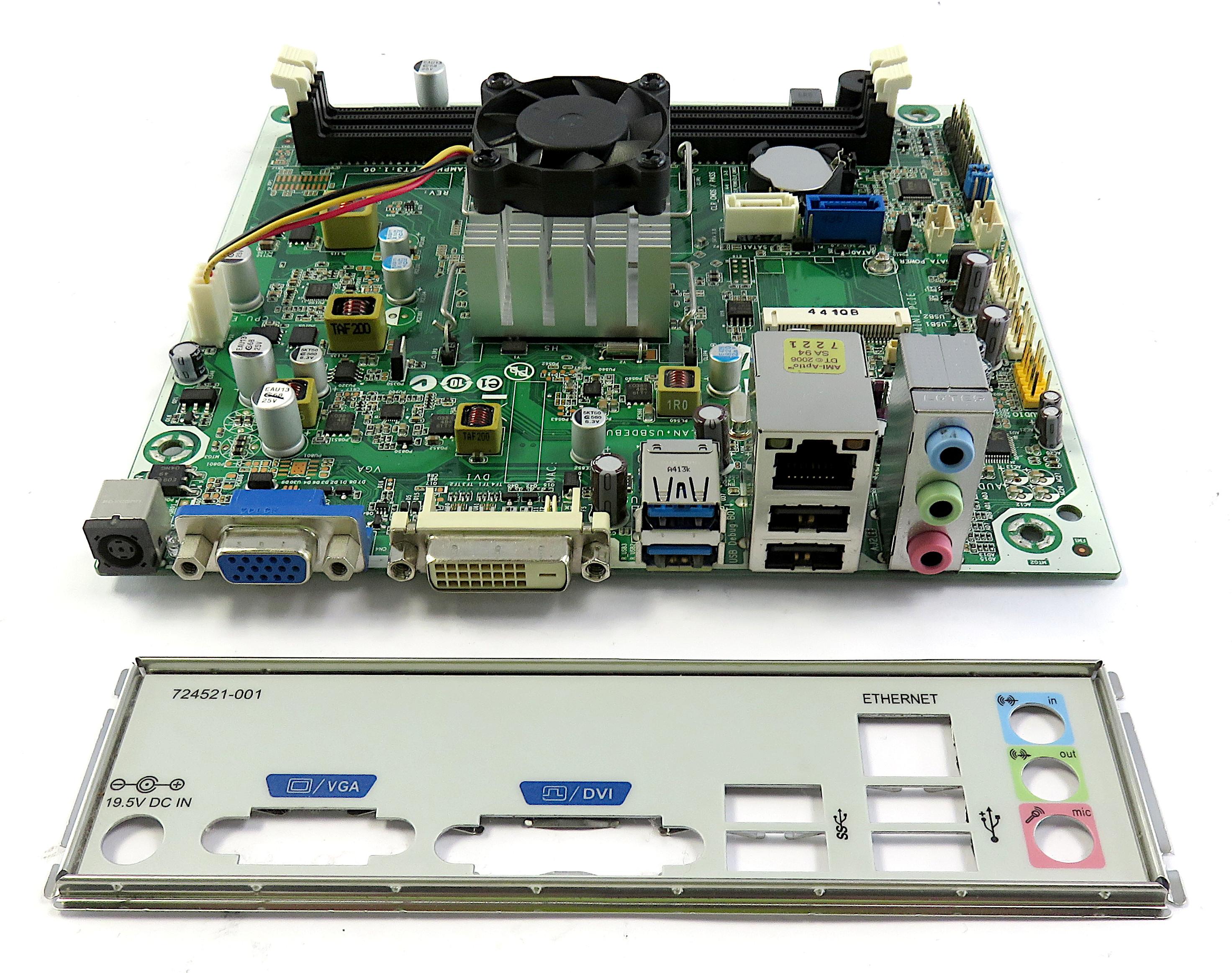 HP 721891-001 110-352na Desktop PC Motherboard with BGA AMD AM5200IAJ44HM CPU