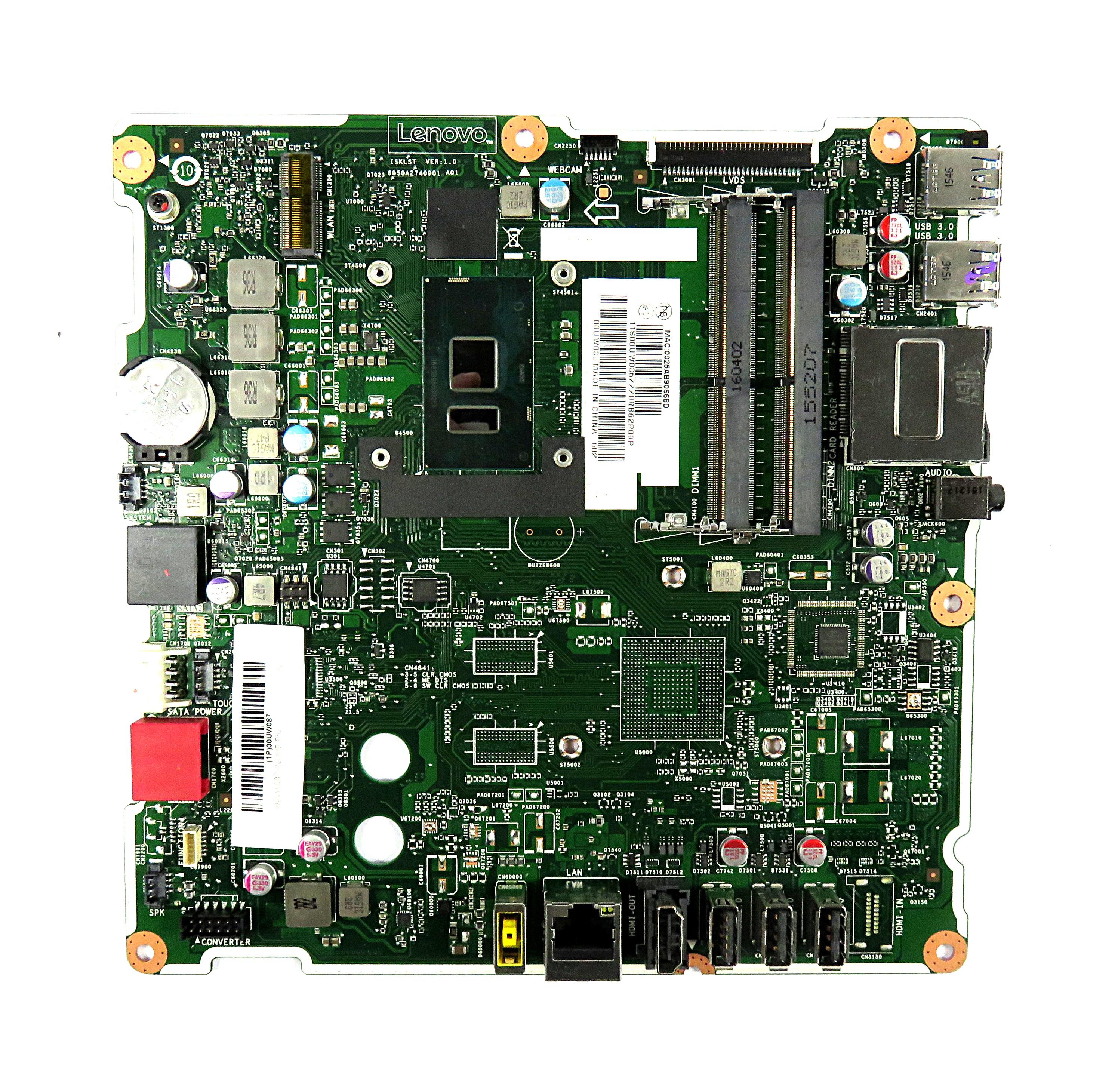 00UW087 Lenovo ISKLST VER:1.0 Motherboard /w Pentium 4405U 2.1GHz CPU