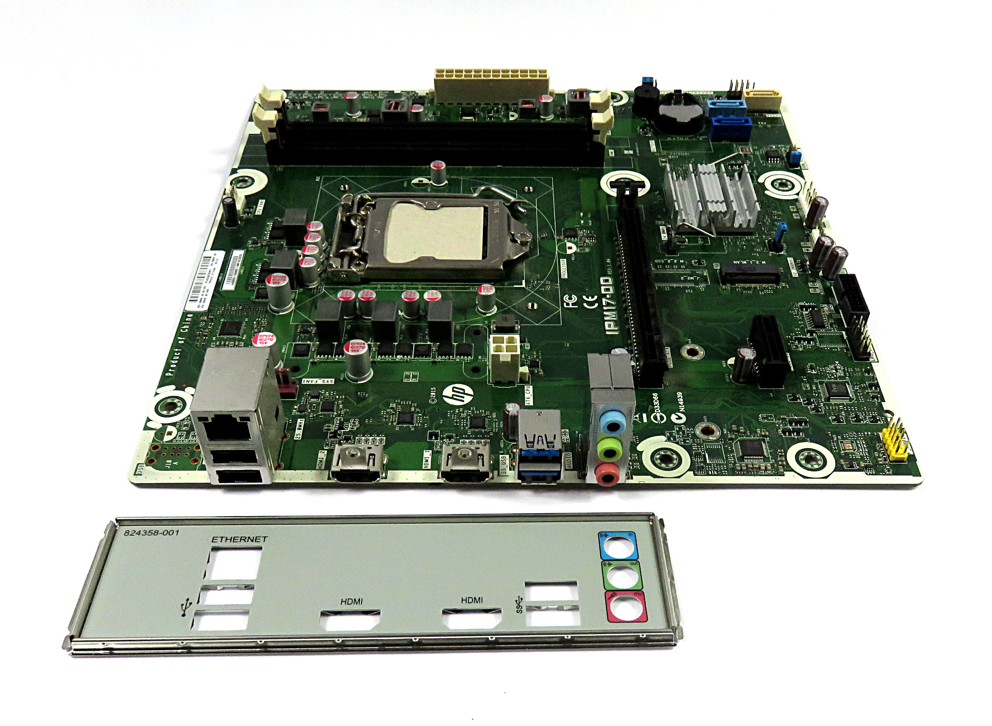 HP 799929-001 IPM17-DD REV:1 04 Intel Socket LGA1151 Desktop Motherboard