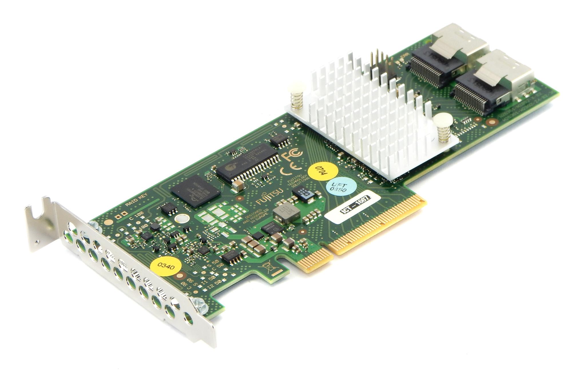 Fujitsu Siemens D2607 SAS/SATA RAID PCIe Controller Card 2x8 6GB/s HDD D2607-A21