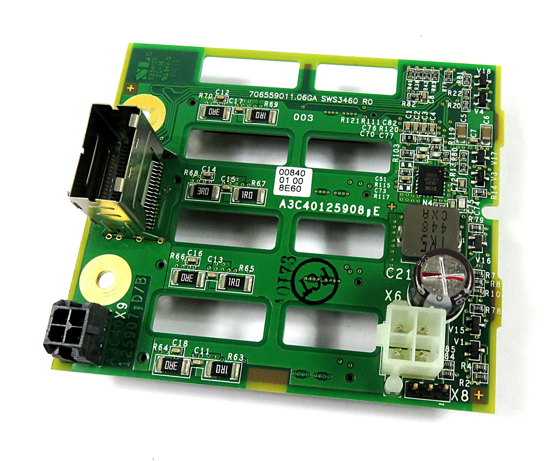 """Fujitsu Siemens A3C40125908 Primergy TX1330 M1 4x 2.5"""" SAS/SATA HDD Backplane"""