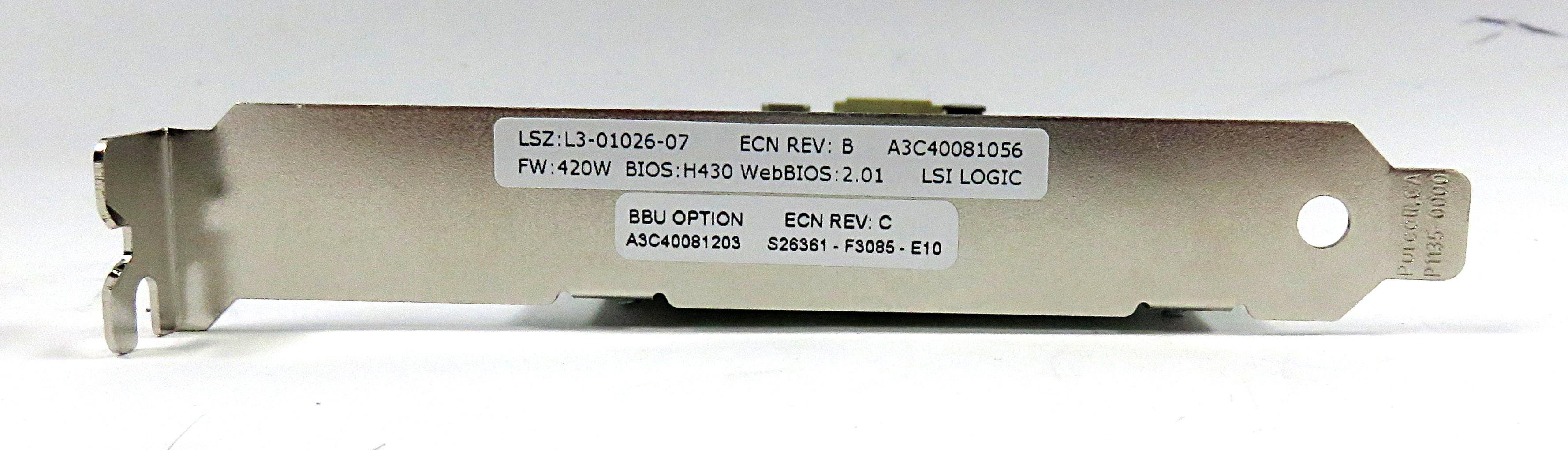 LSI Logic L3-01026-07B PCI-X MegaRAID SCSI 320 Controller Card A3C40081056