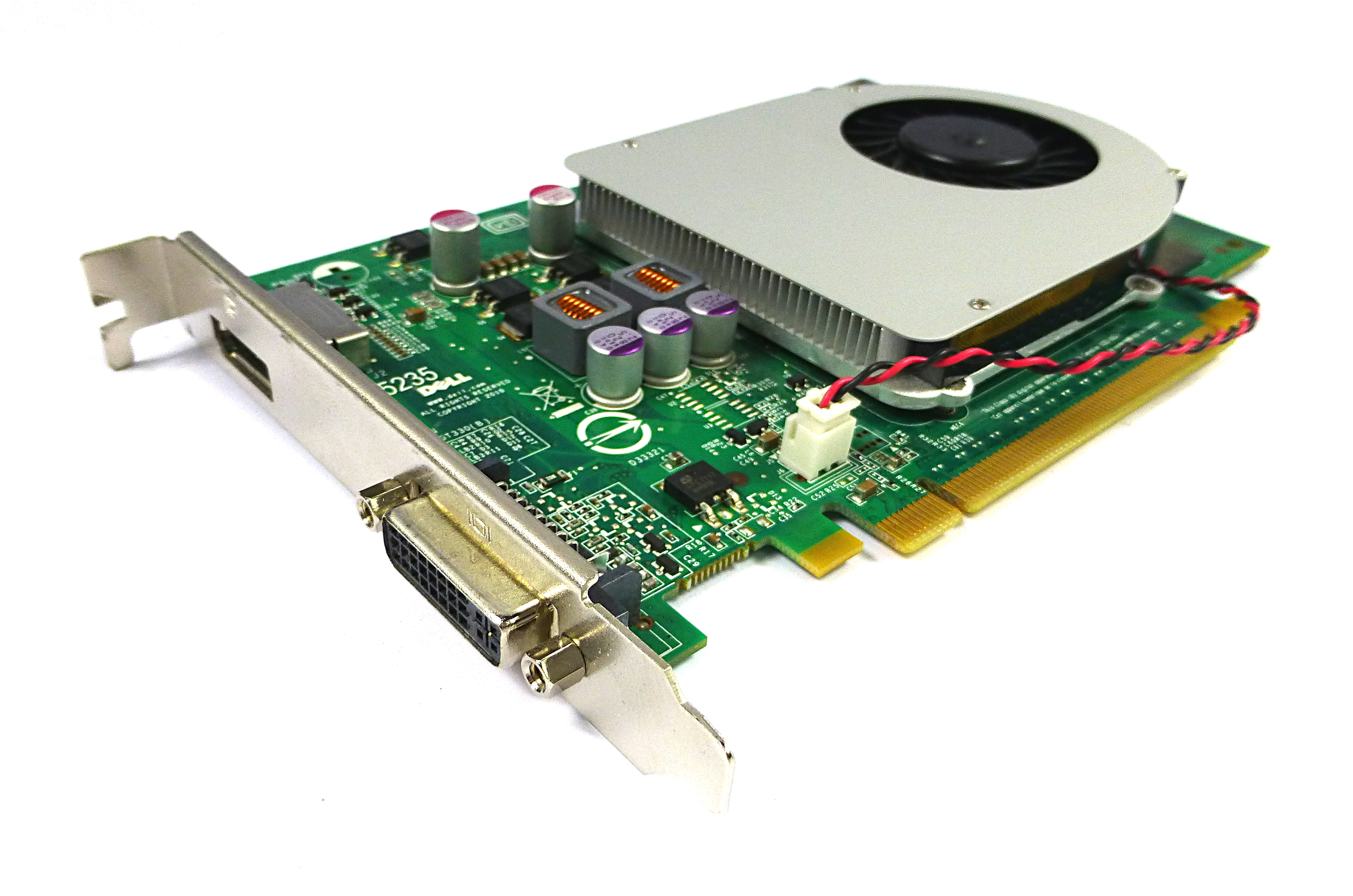 Dell 9TCD9 nVidia GeForce GT330 1GB DDR3 DisplayPort/DVI PCIe Graphics Card