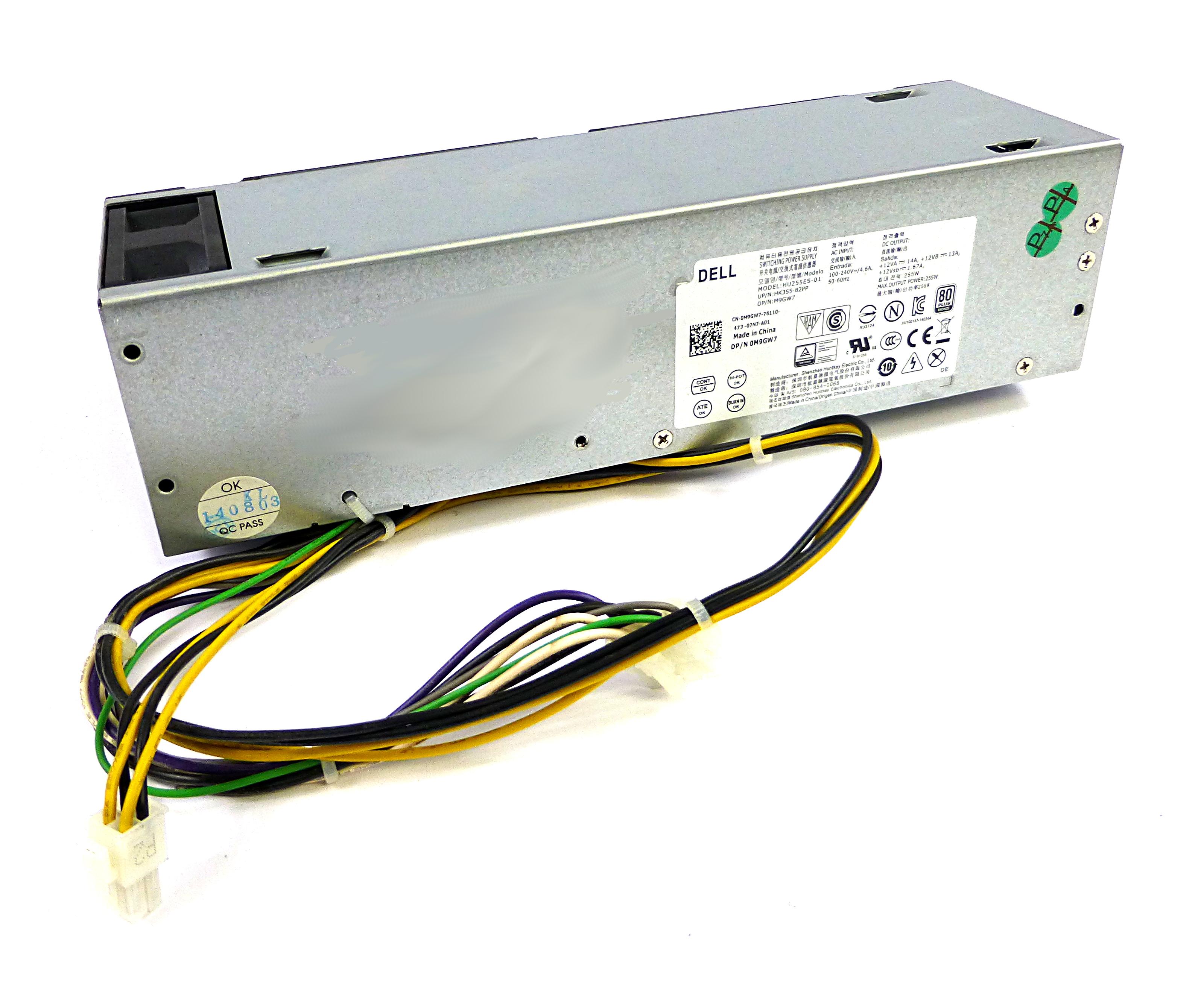 Dell M9GW7 Optiplex 9020 7020 SFF 255W 8-Pin Power Supply HU255ES-01