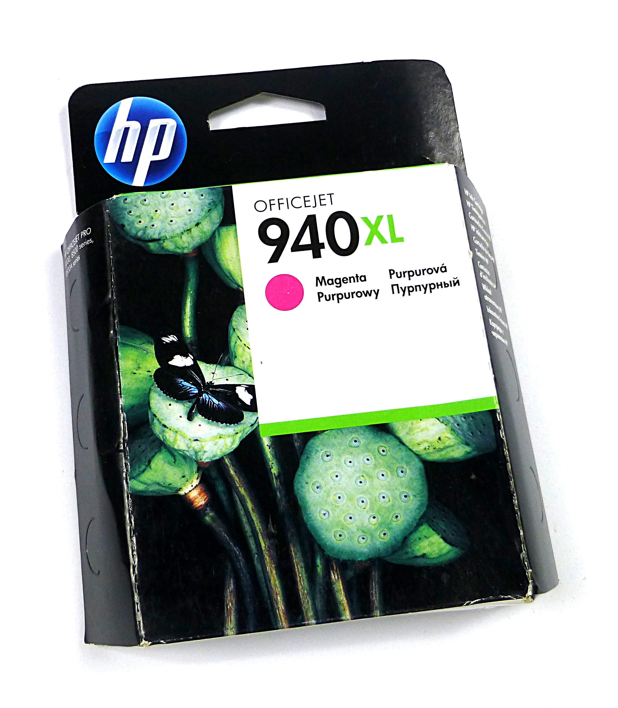 New Genuine HP C4908AE/940XL High-Capacity Magenta Ink Cartridge - Expired Stock