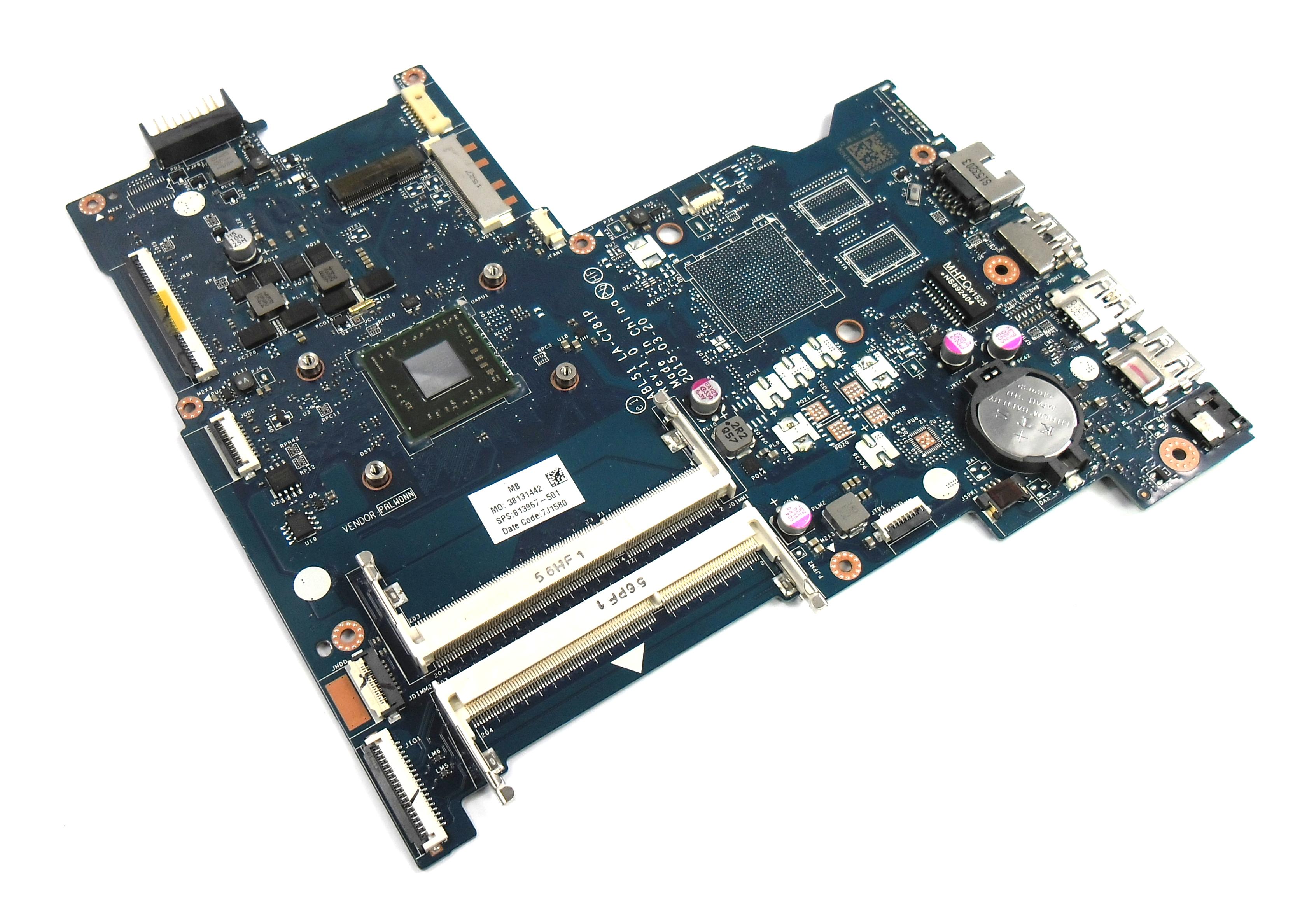 HP 813967-501 Pavilion 15-af156sa Motherboard with AMD A6-6310 Processor