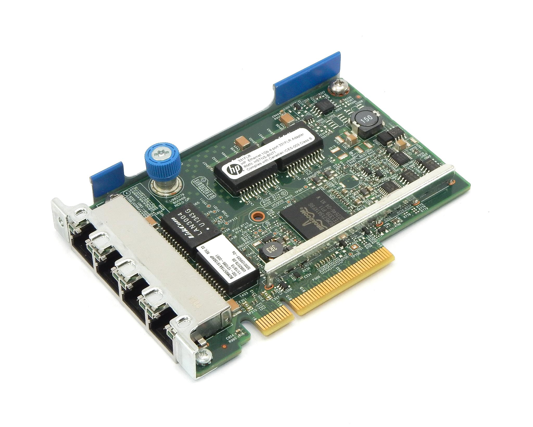 HP 634025-001 4-Port 331FLR PCIe x8 Gigabit Ethernet Adapter- 629133-001